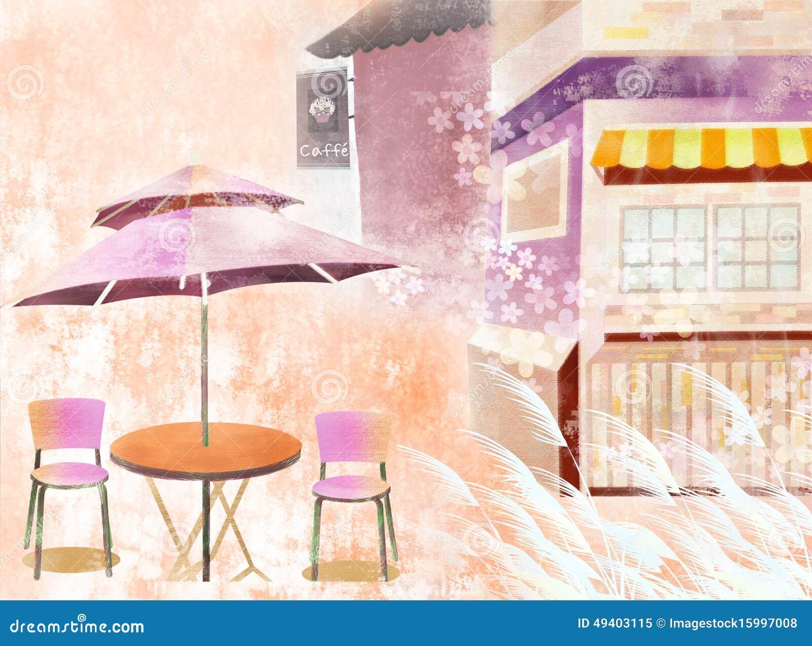 Download Schönes Café stock abbildung. Illustration von freizeit - 49403115