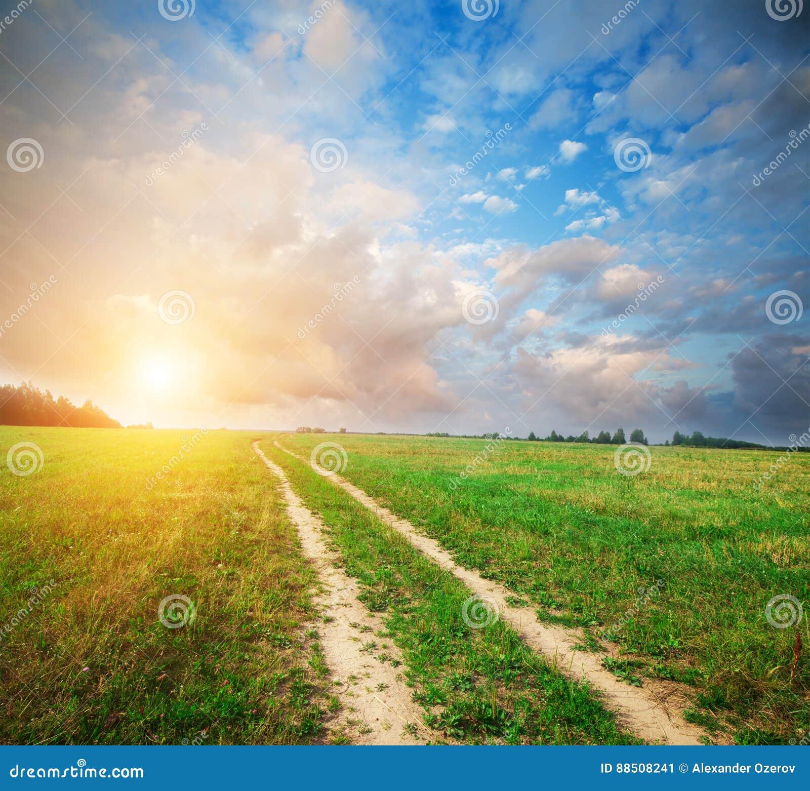 Schönes Feld und Straße