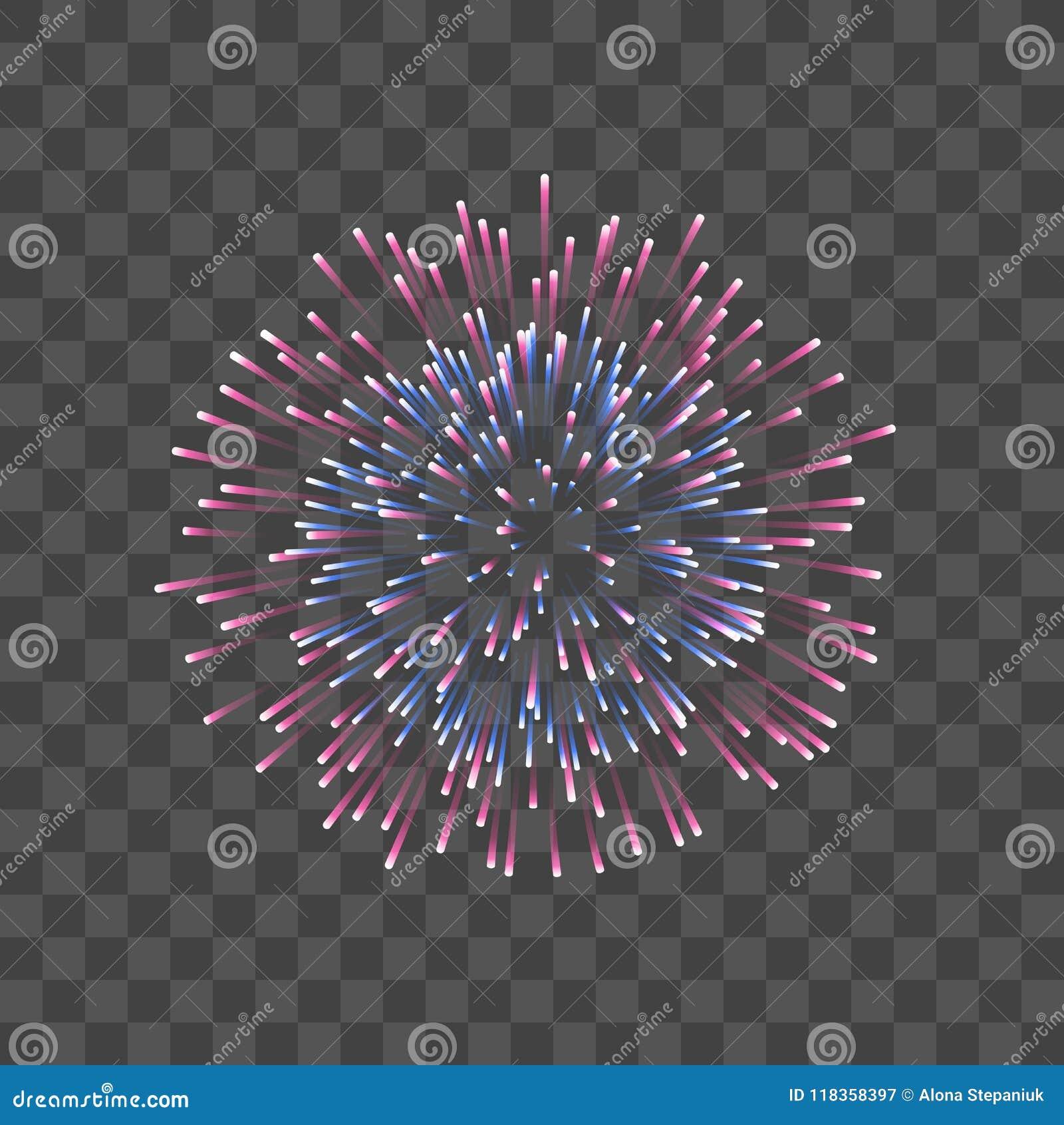 Schönes Feuerwerk Lokalisierter Transparenter Hintergrund Der Paare ...