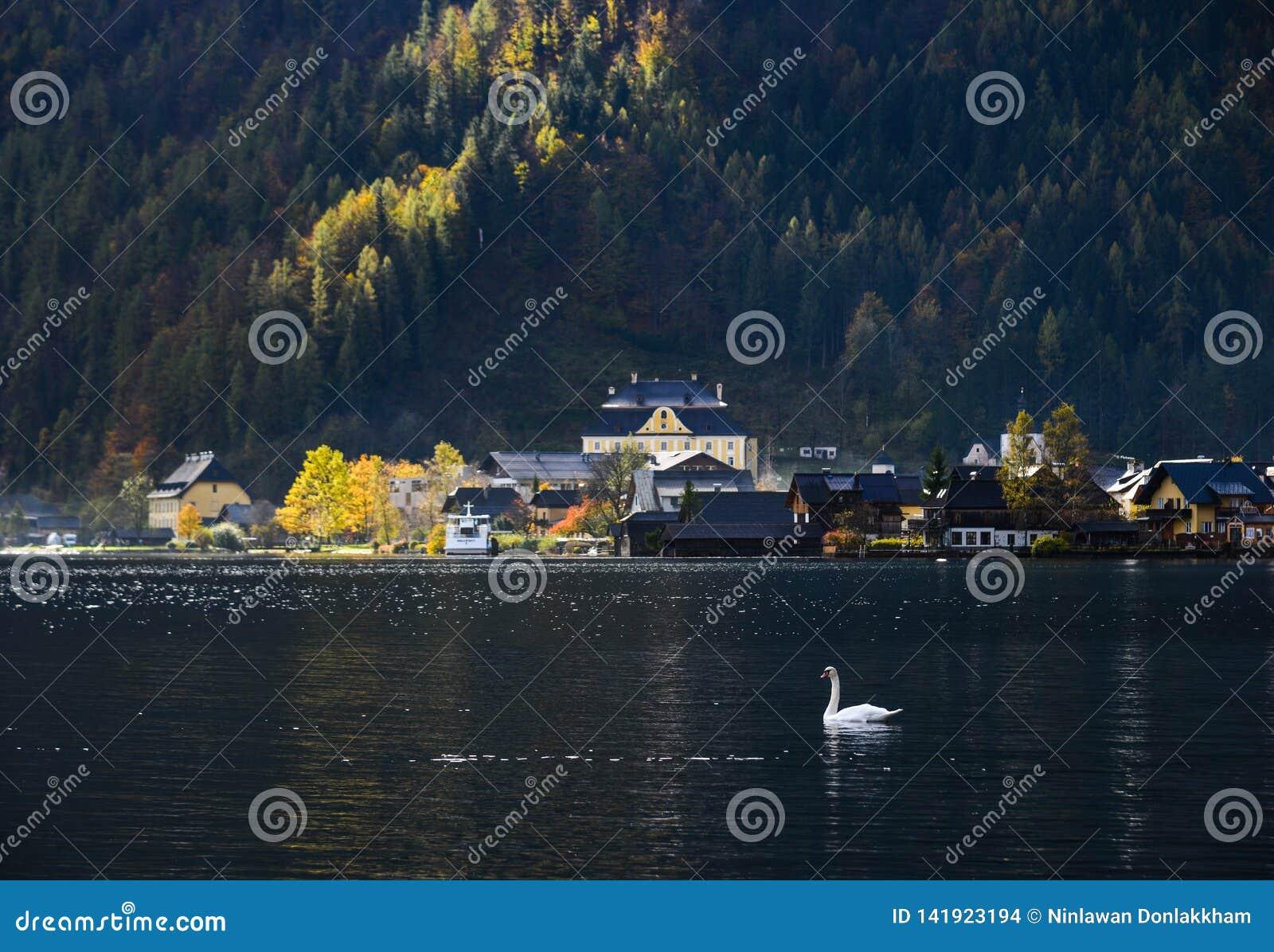 Schönes Hallstatt-Dorf von Österreich