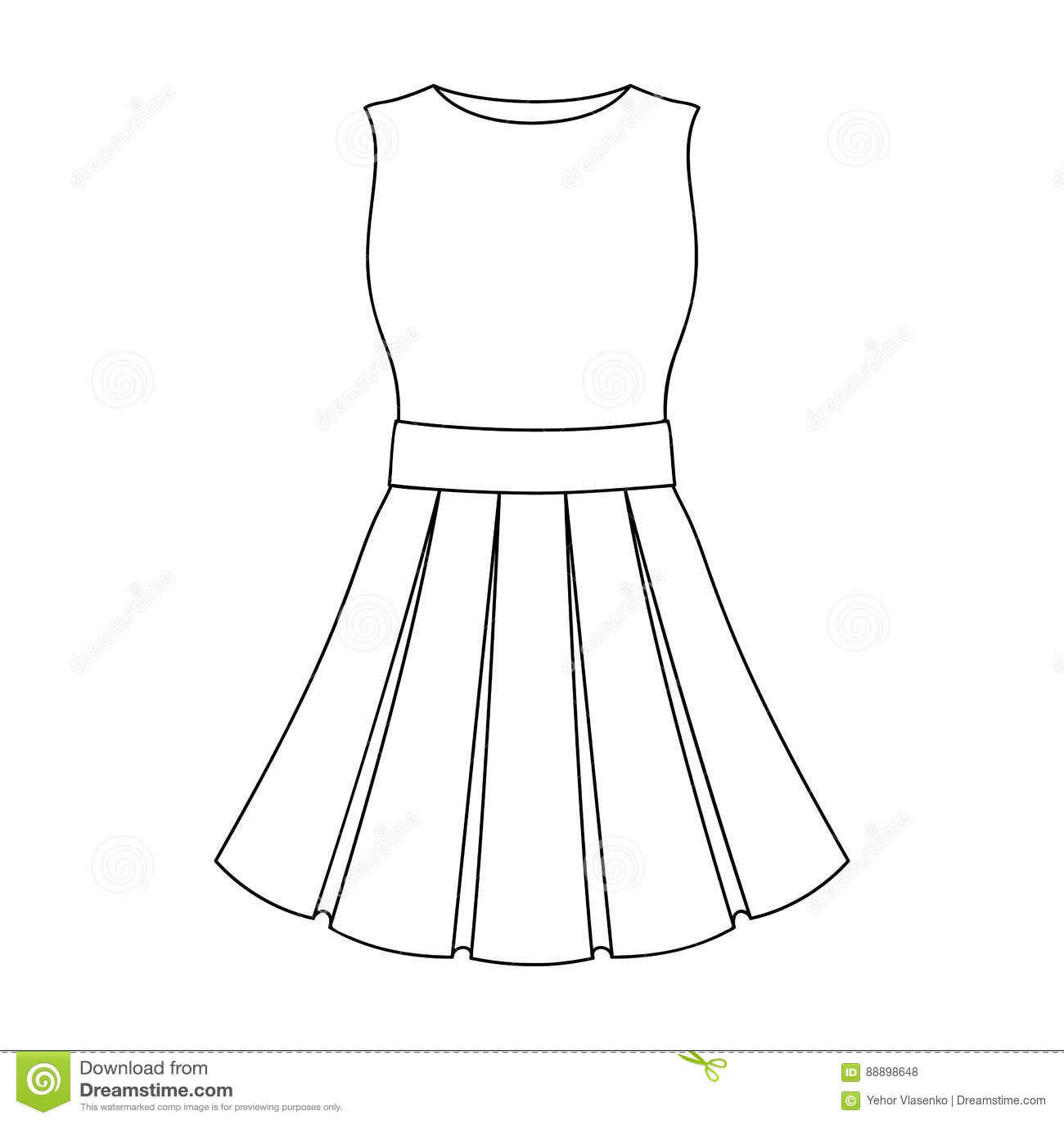 486c50d146535 Schönes helles Sommerkleid ohne Ärmel Kleidung für eine Wanderung zum  Strand Einzelne Ikone der Frauenkleidungs