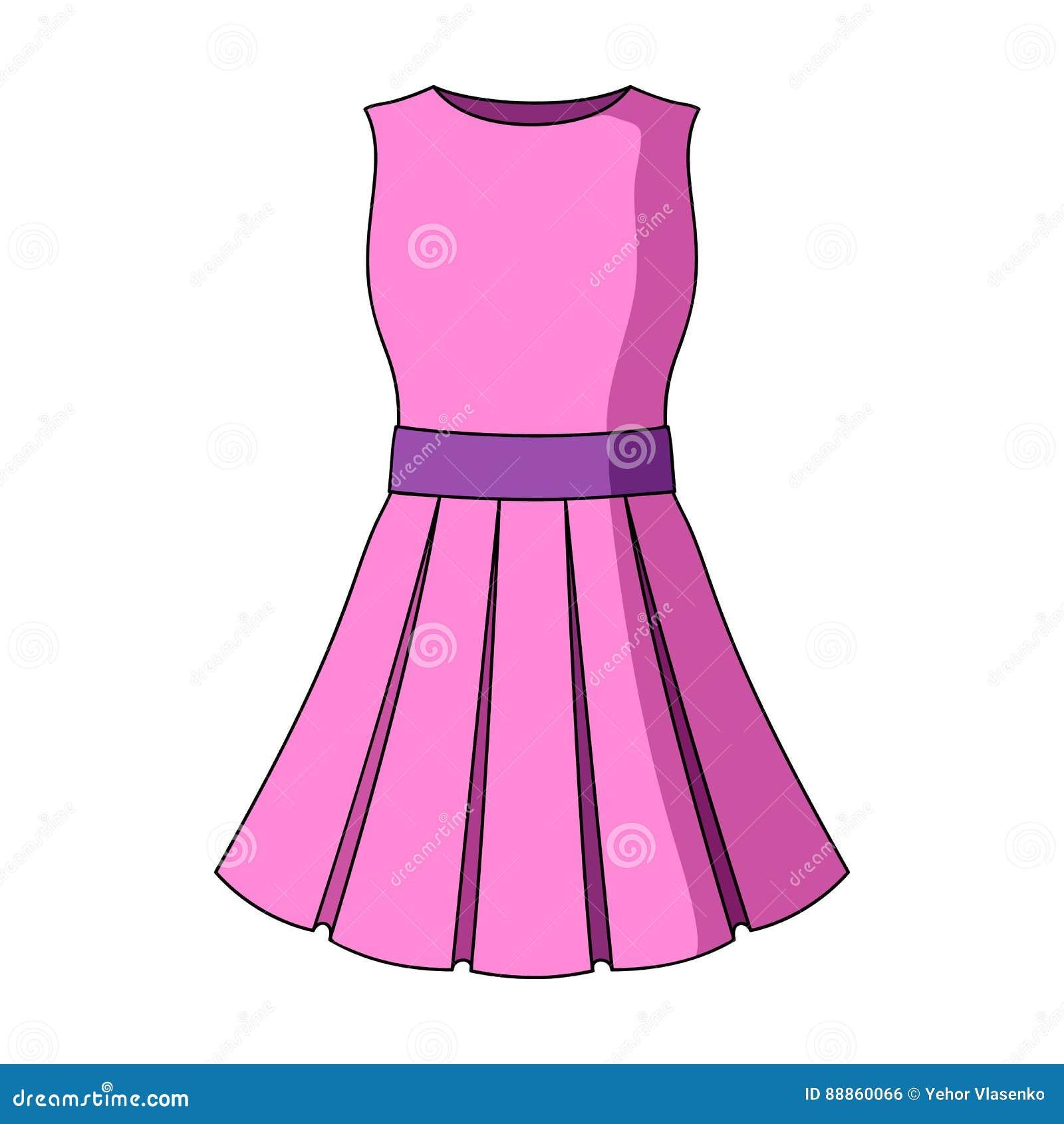 schönes hellrosa sommerkleid ohne Ärmel kleidung für eine