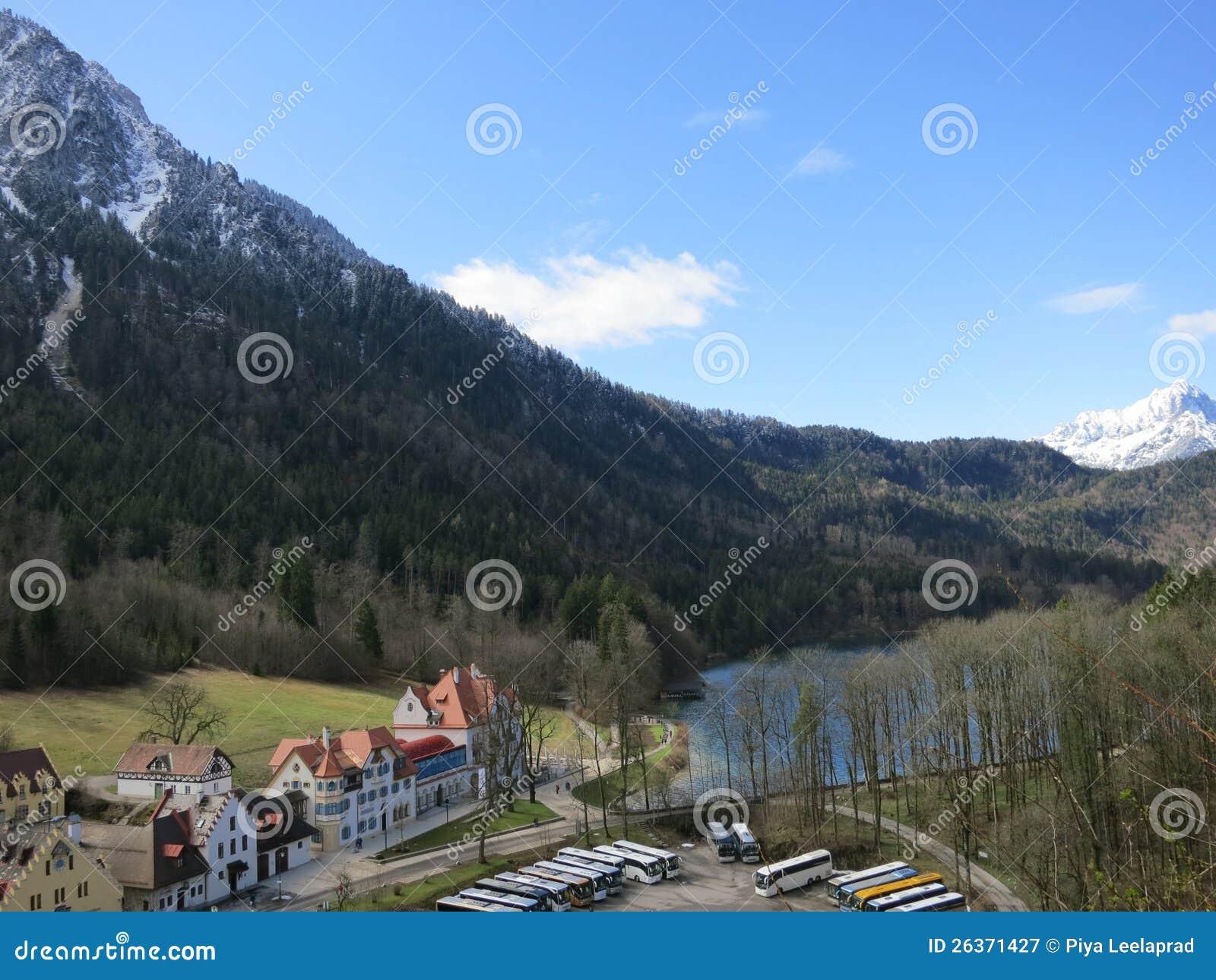 Schönes Hoheschwangau Dorf