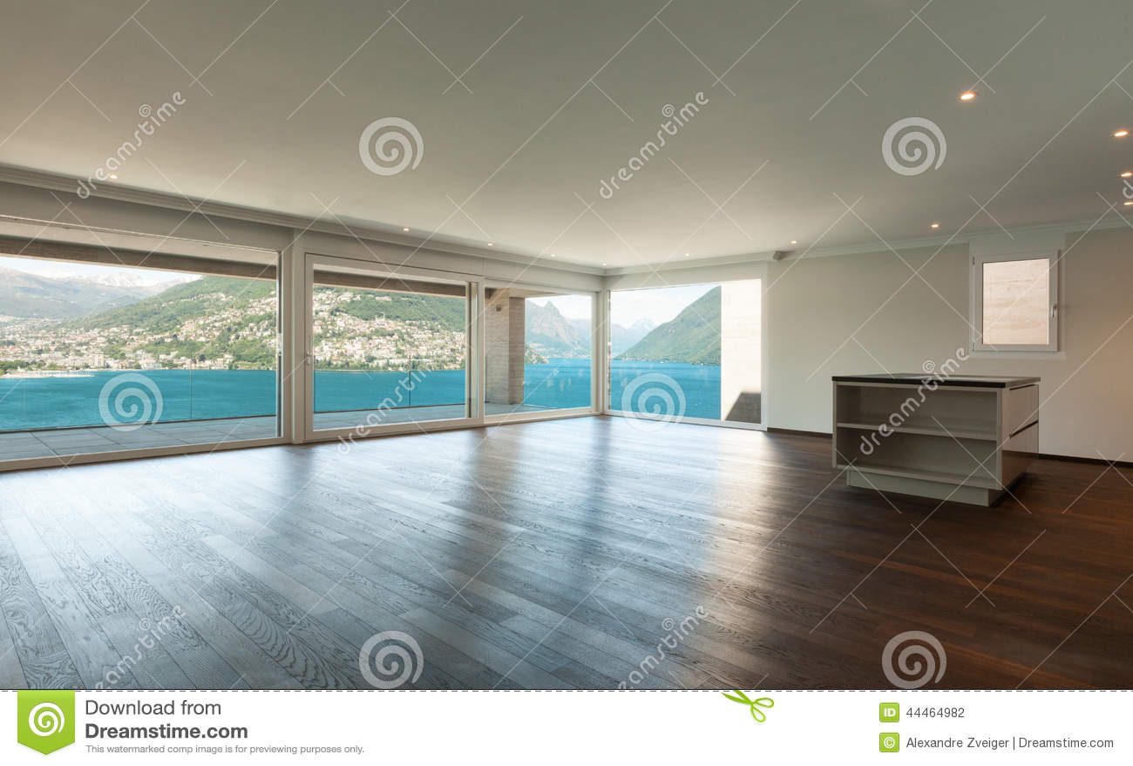 Schönes Modernes Haus, Innen Stockfoto - Bild von küche, weit: 44464982