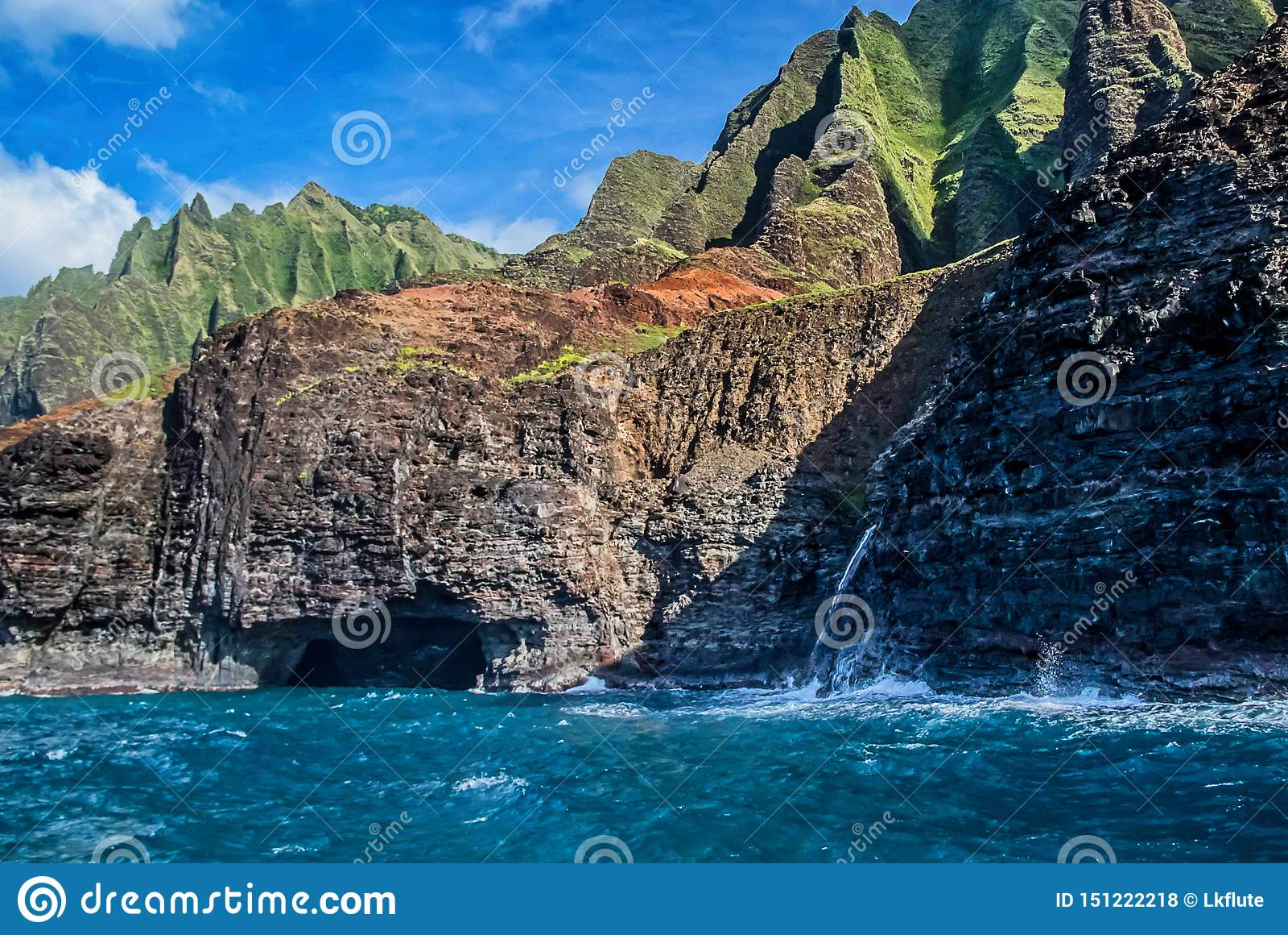 Schönes Na Pai Coast von Kauai