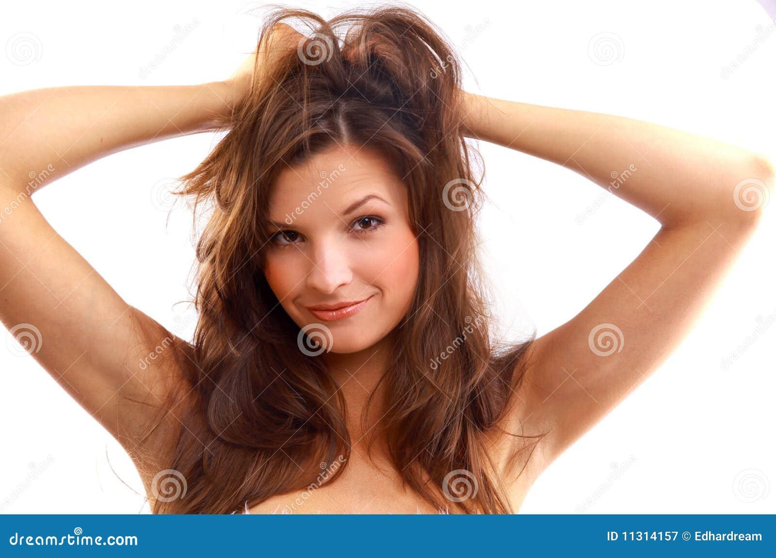 Schönes Portrait der jungen Frau