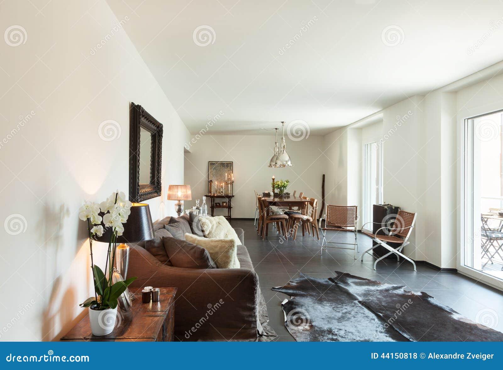 Schönes Wohnzimmer stockfoto. Bild von sofa, architektur - 44150818