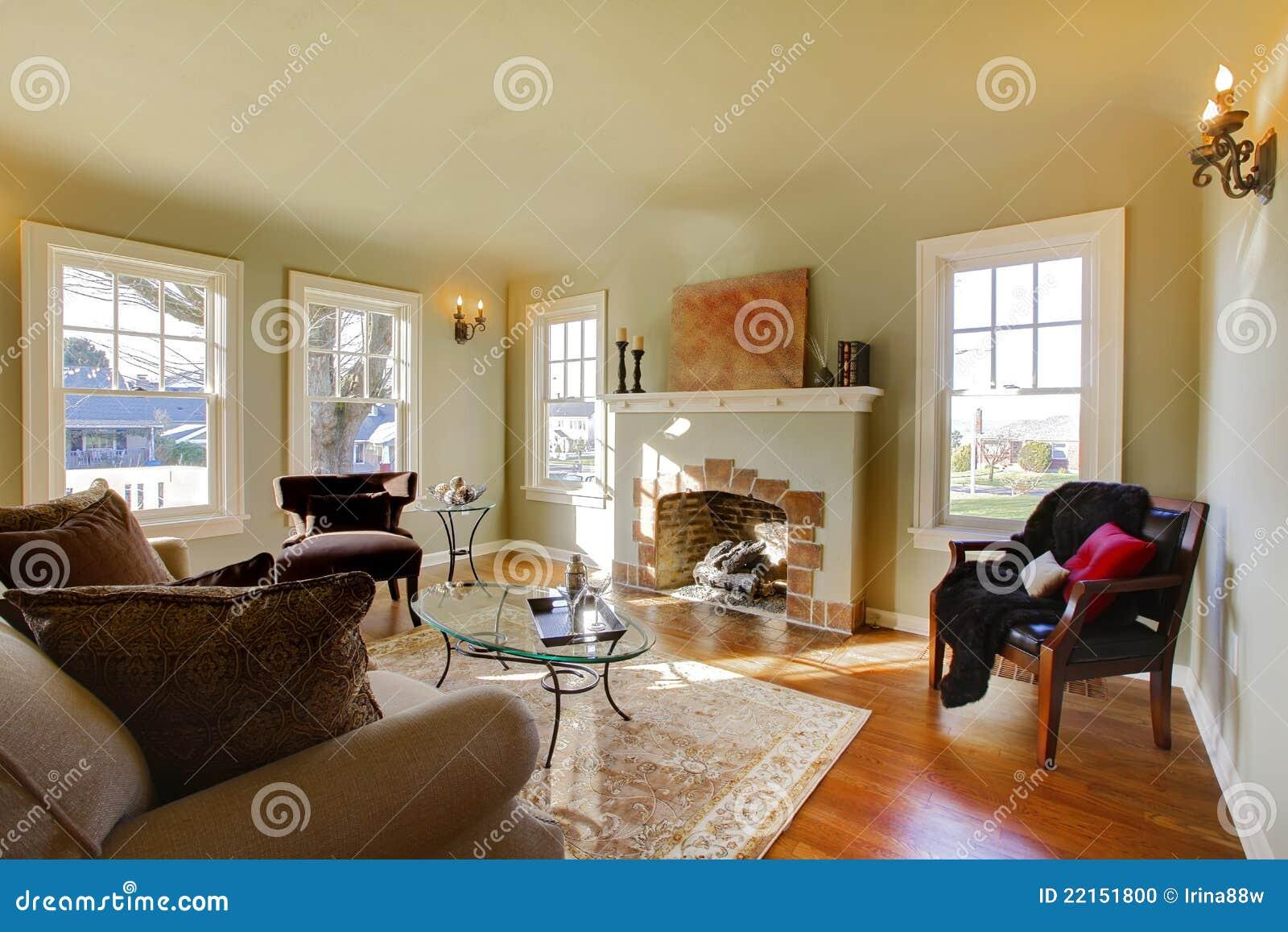 Download Schönes Wohnzimmer Mit Altem Kamin. Stockfoto   Bild Von Graphik,  Bild: 22151800
