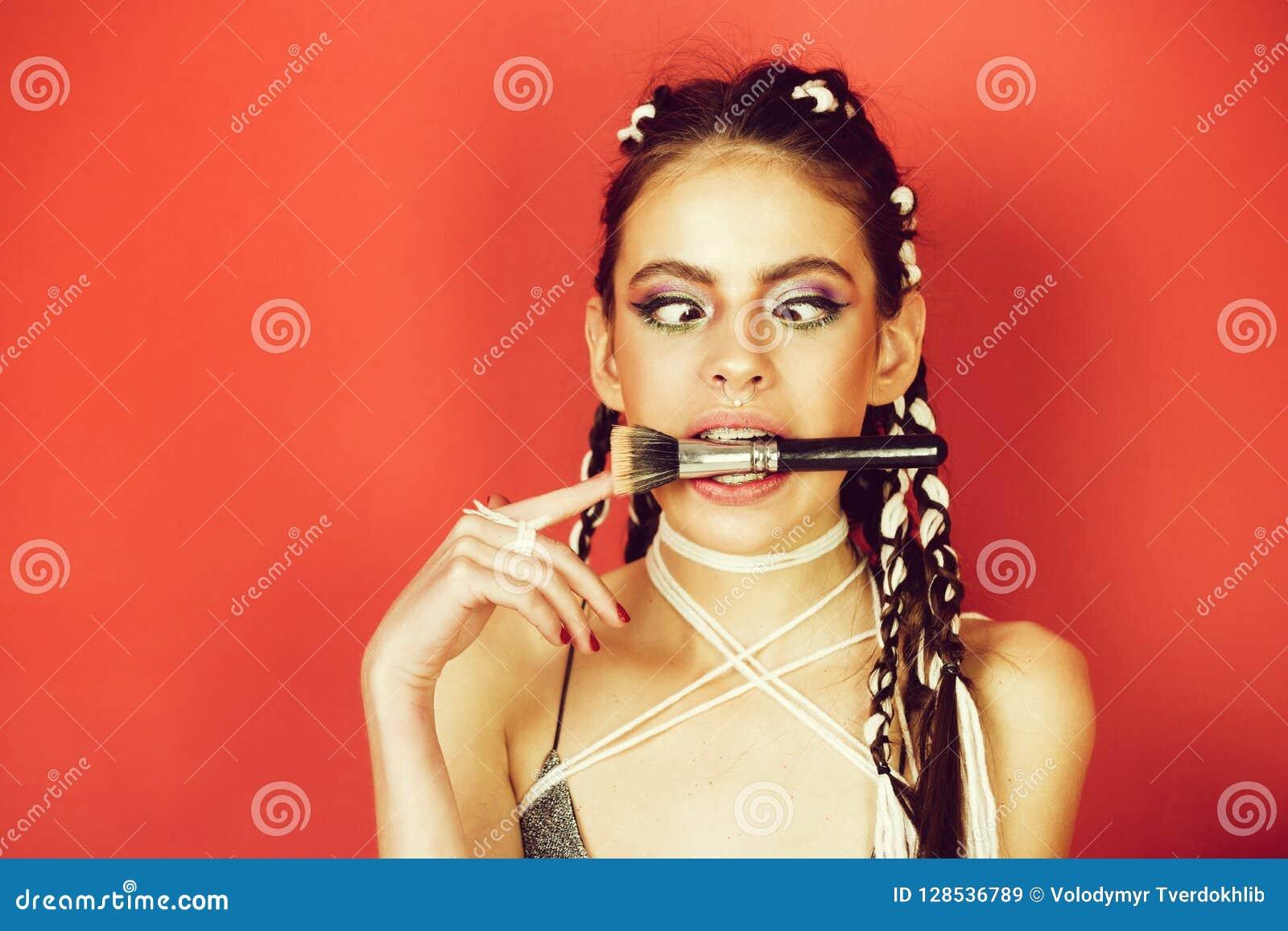 Schönheit und Mode, Make-up und Haar, Indie und boho
