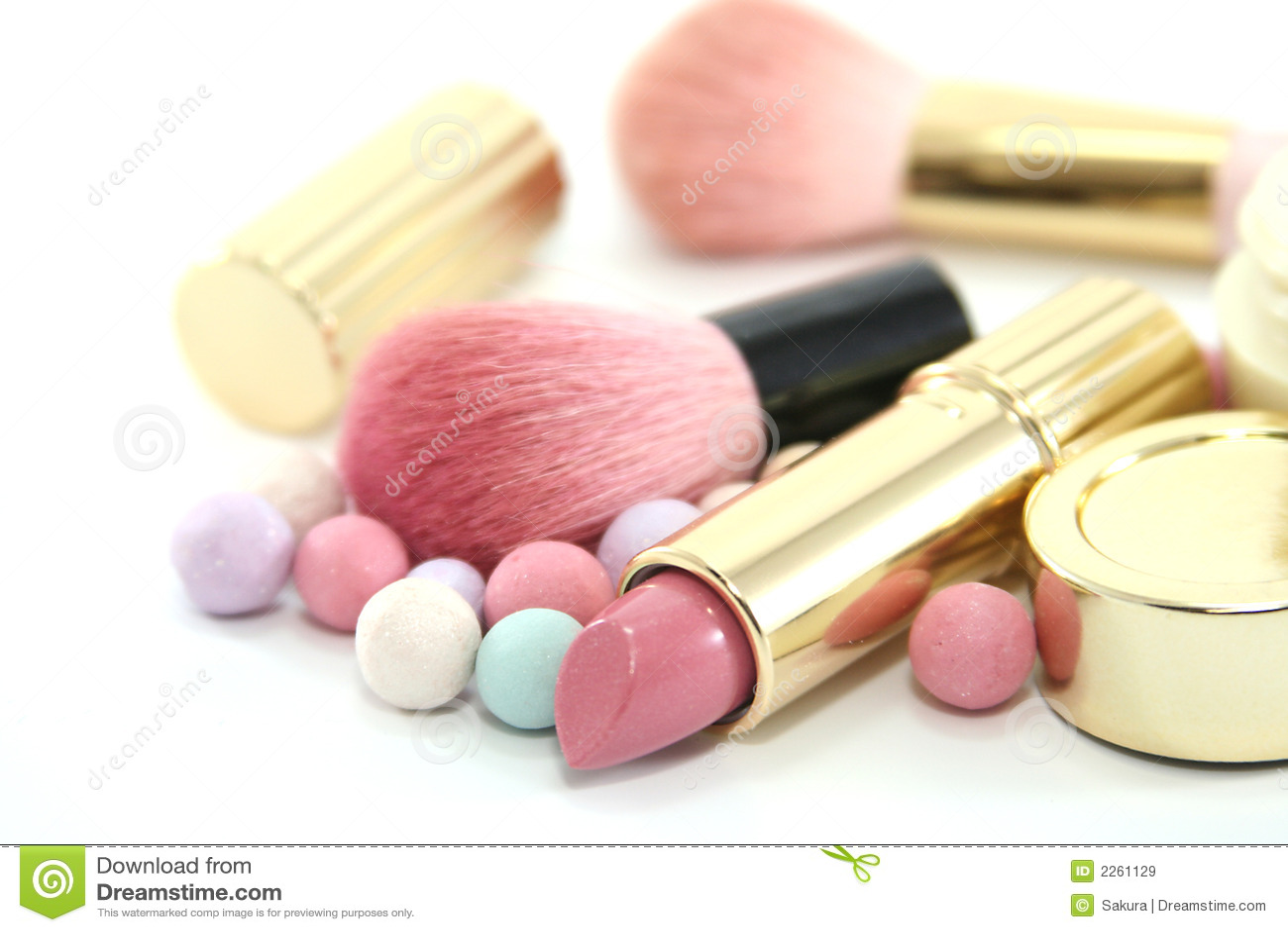 Schönheits-Kosmetik eingestellt
