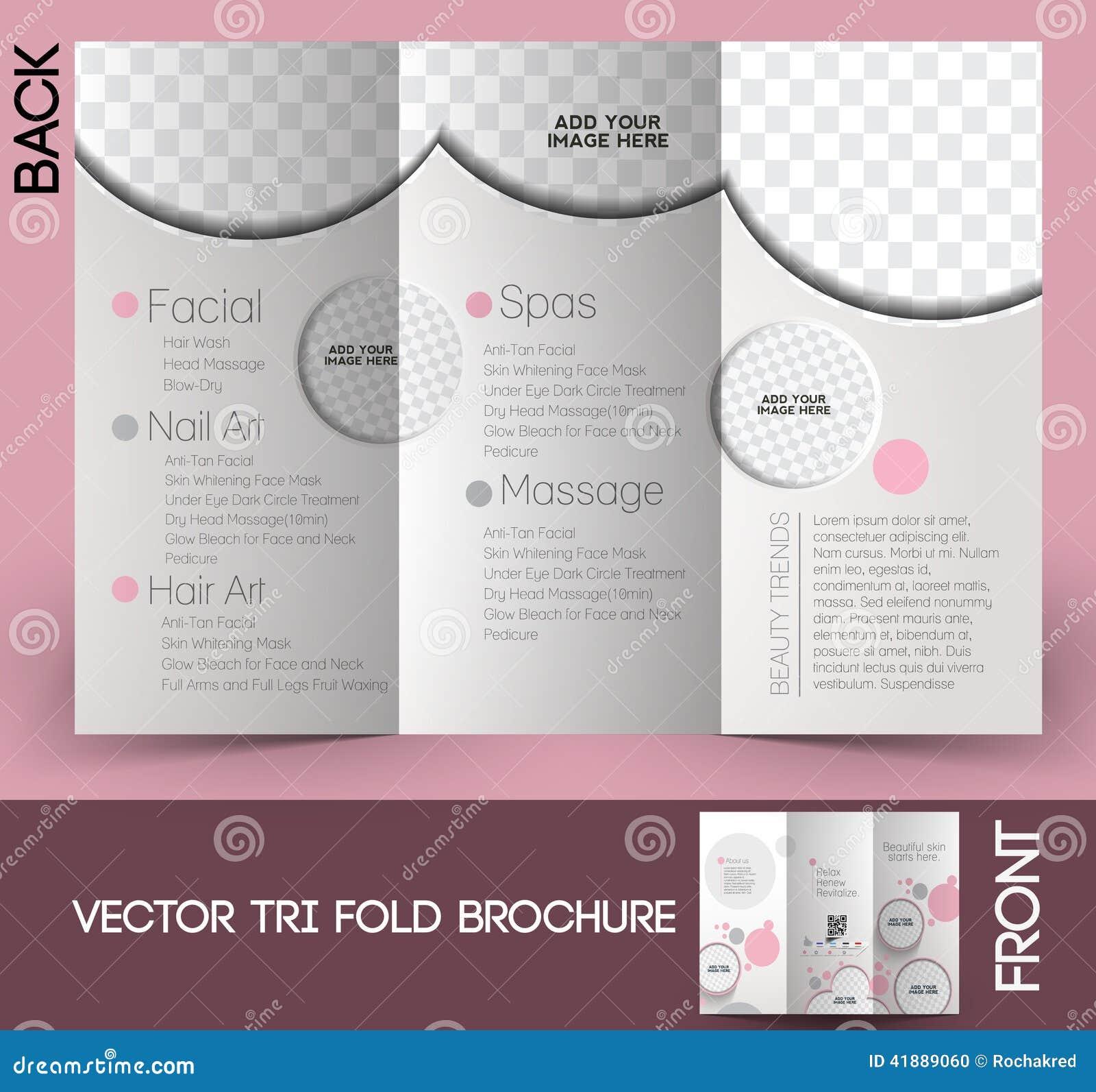 Schönheitspflege U. Salon-Broschüre Vektor Abbildung - Illustration ...