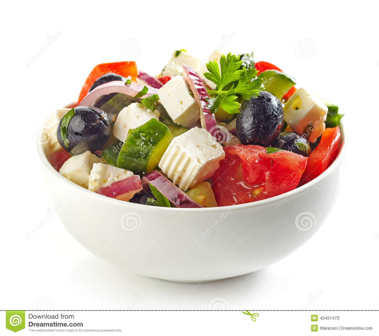 Schüssel griechischer Salat