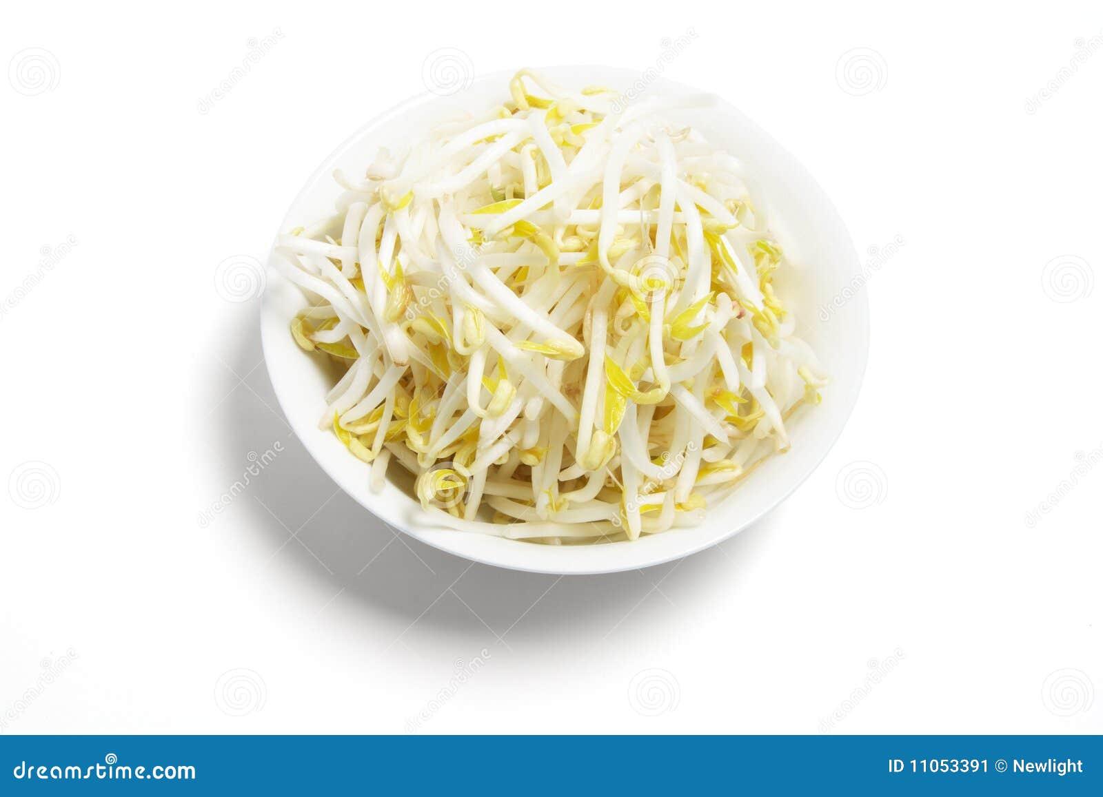 Schüssel Sojabohnensprossen