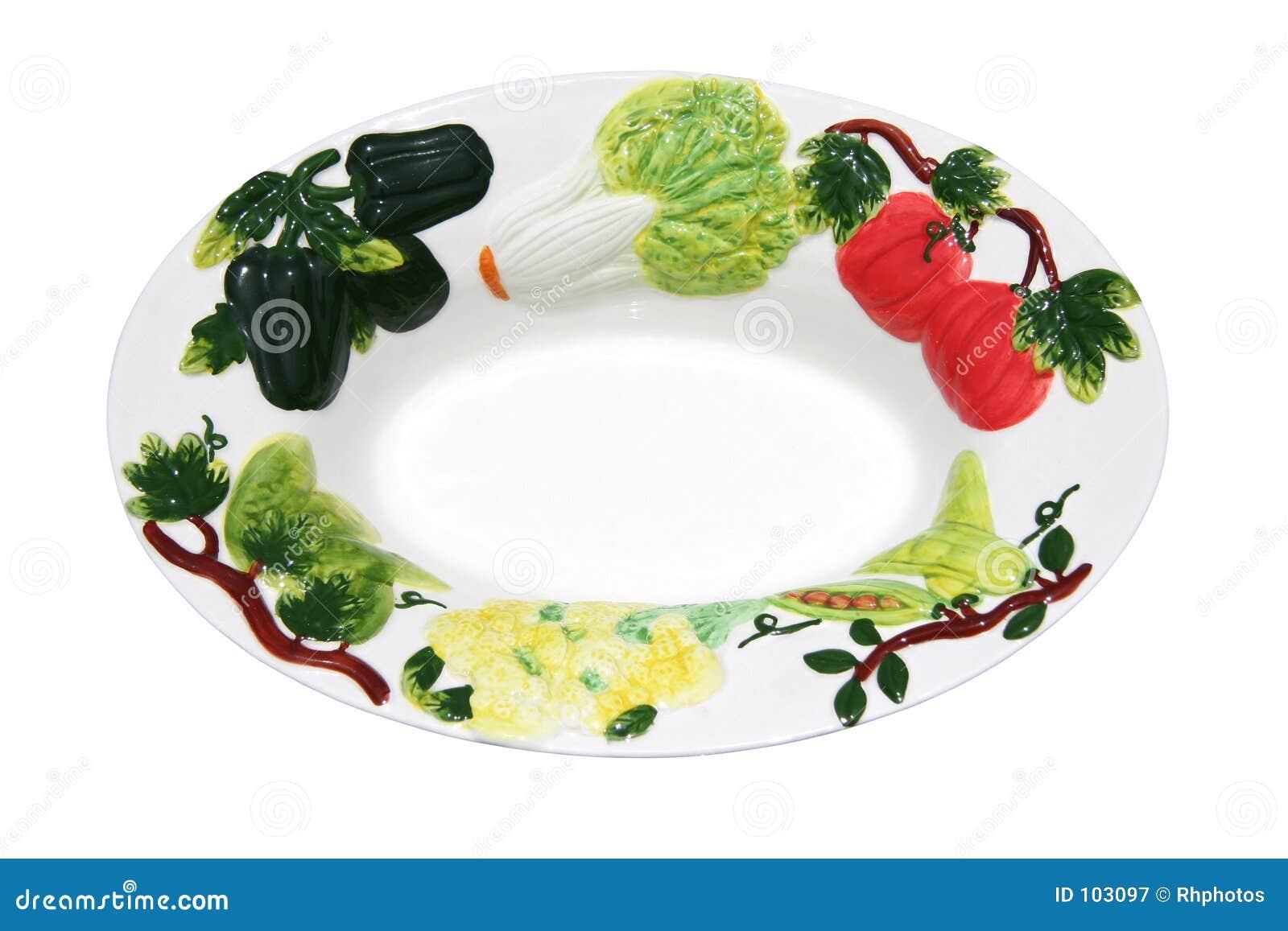 Schüssel verziert mit Gemüse