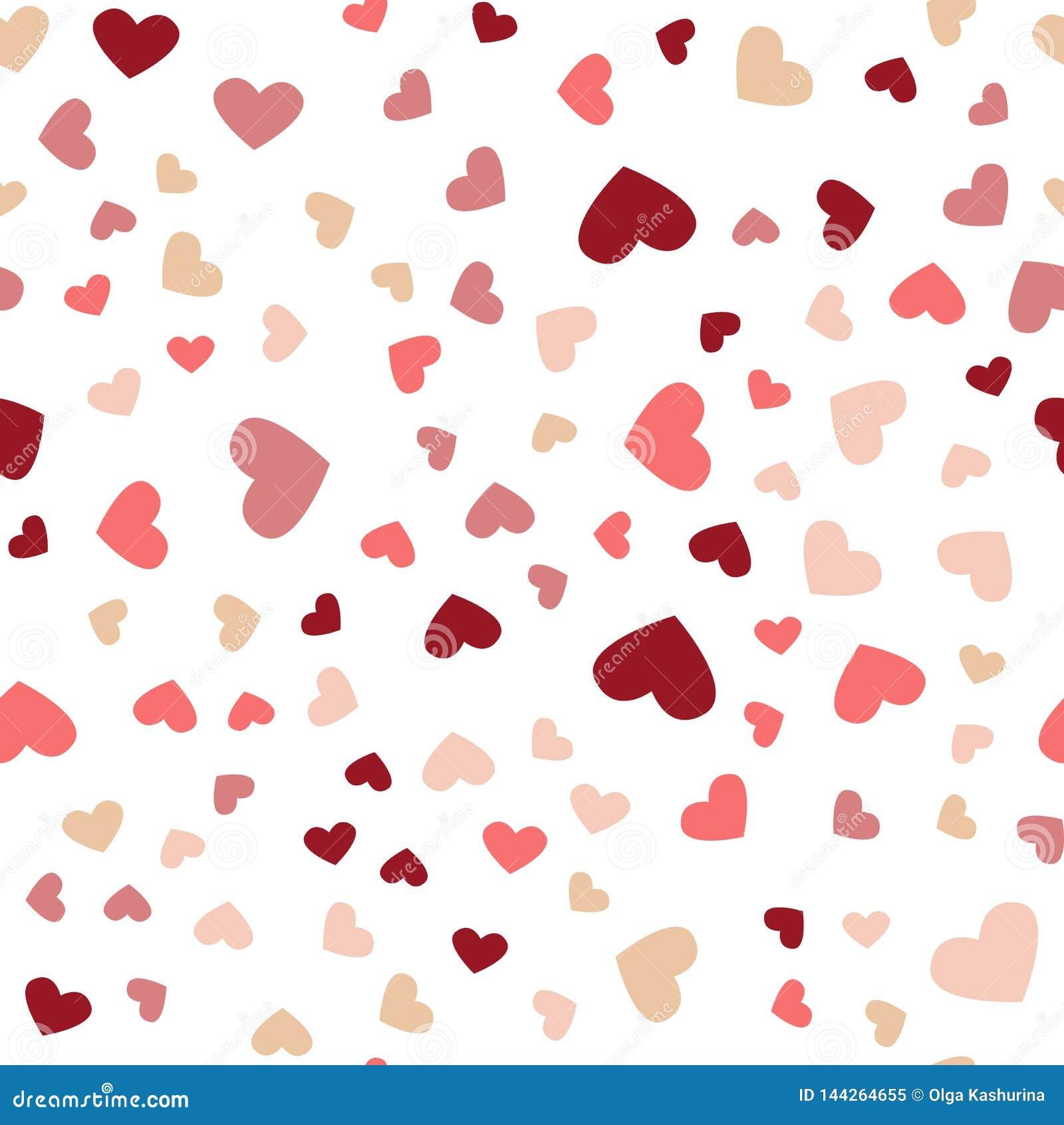 Sch?nes Konfetti-Herz-Fallen Gru?karte, Plakat Farbige Herzkonfettis f?r die Feiertage der Frauen