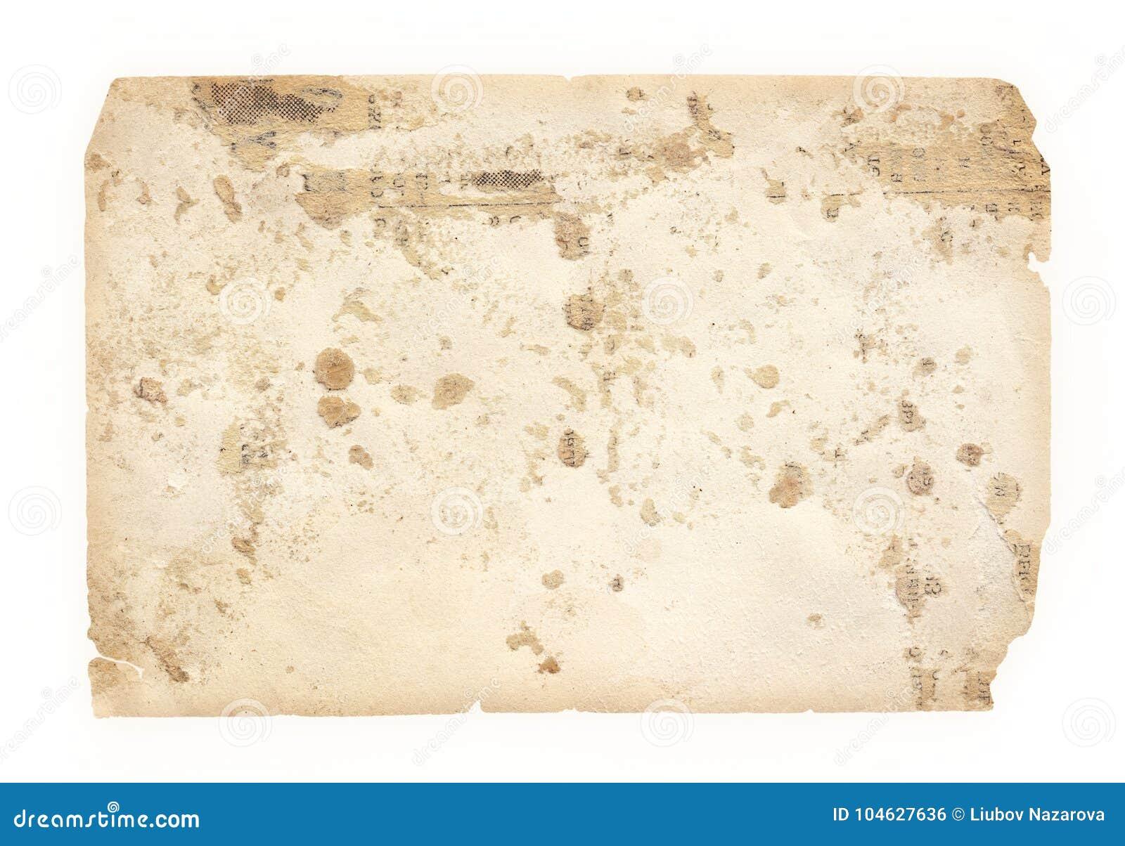 Download Schaaft Het Textuur Oude Document Met Sporen Van En Bevlekt Stock Foto - Afbeelding bestaande uit decor, gebrand: 104627636