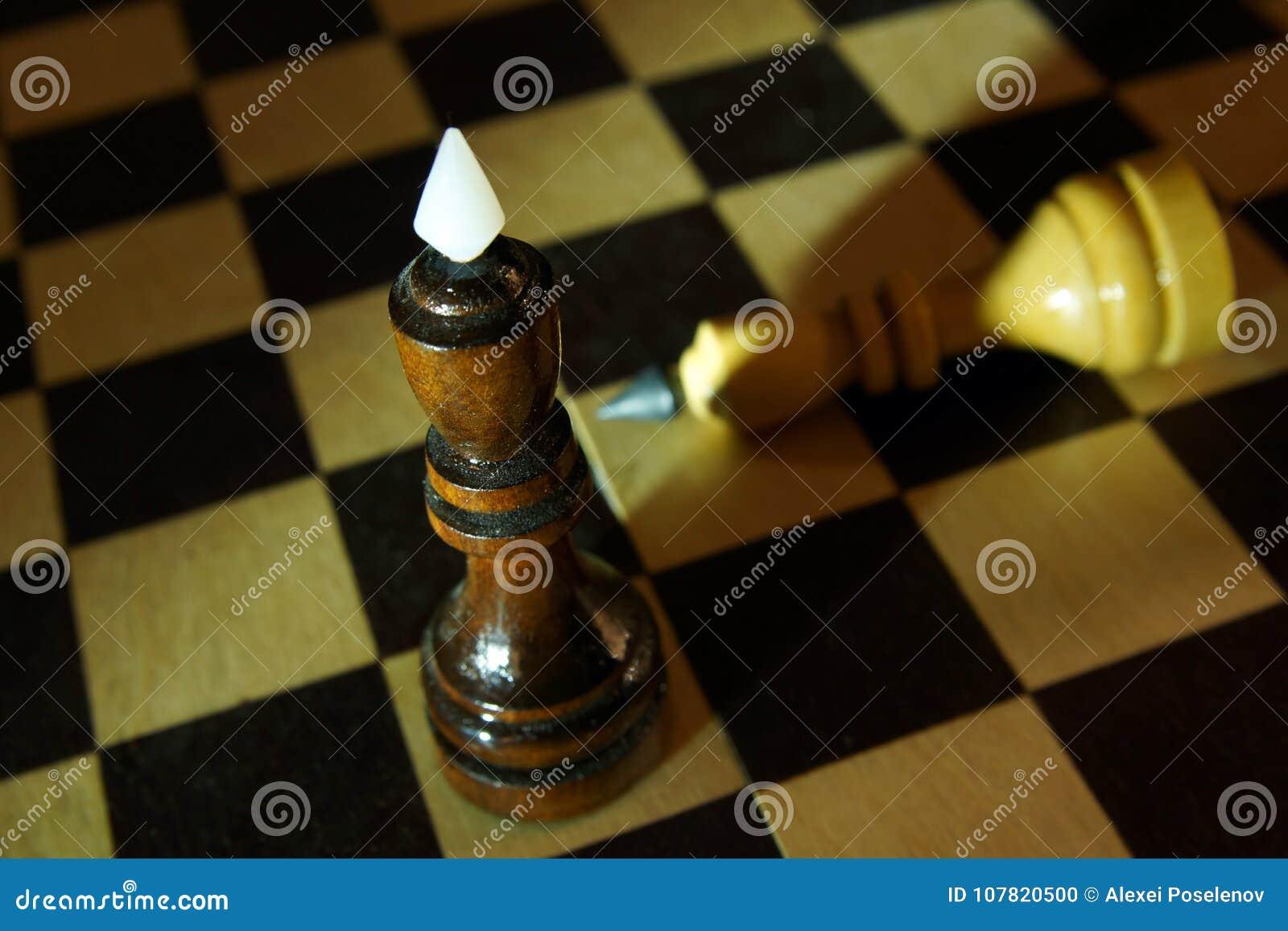 Schaakkoning gewonnen tegenstander Overwinning en Nederlaag