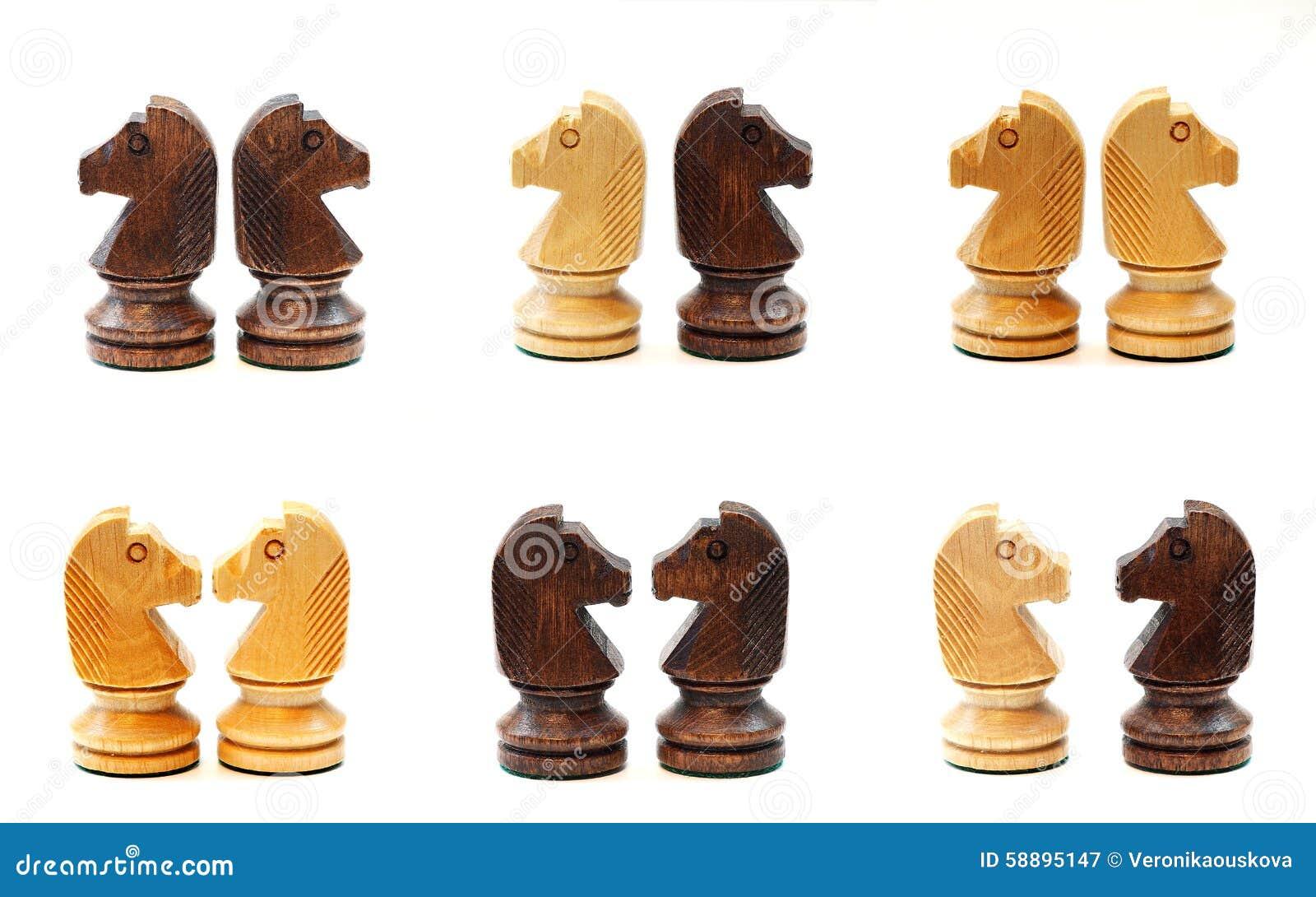 Schaakpaarden in diverse positie