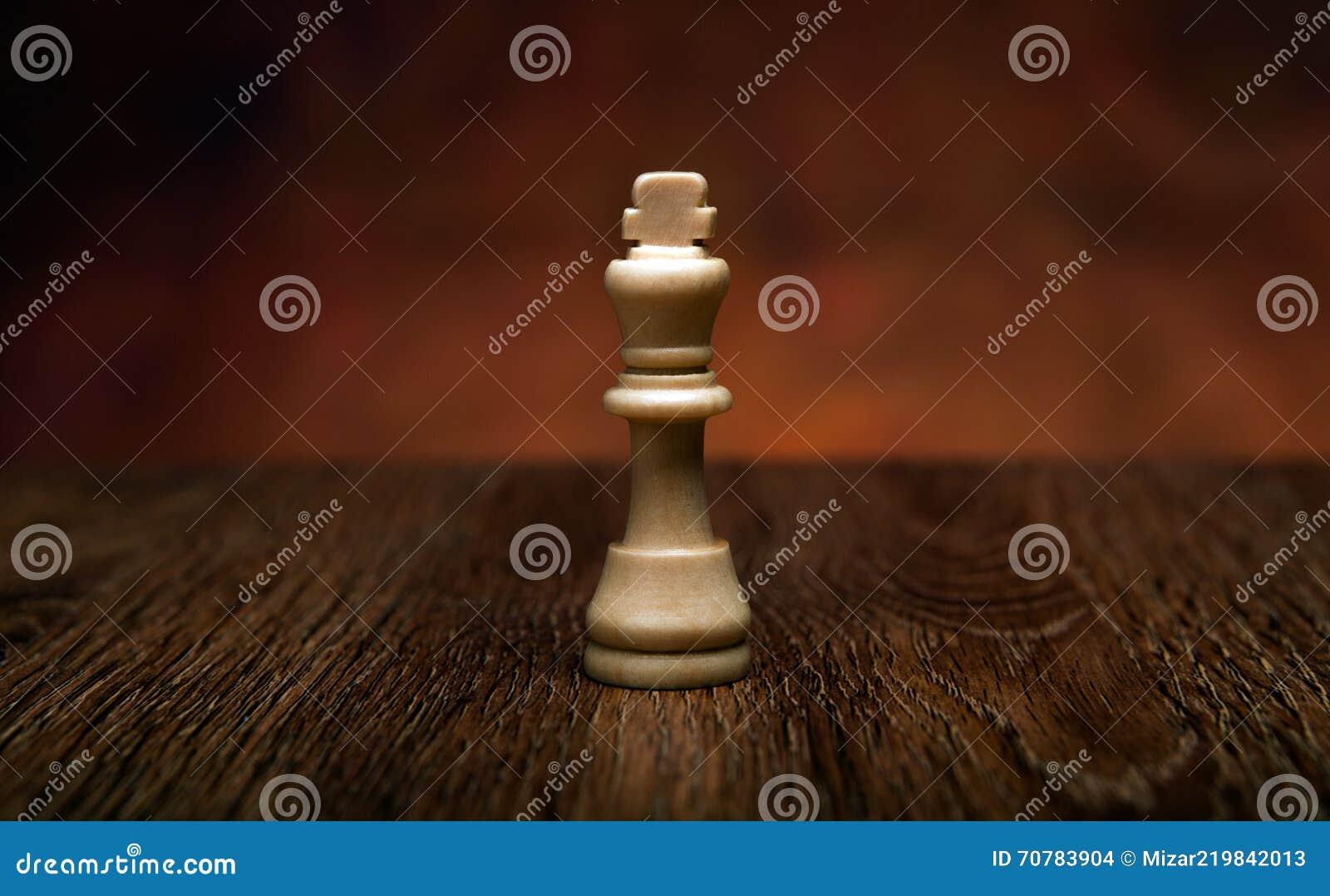 Schaakspel met koning op de lijst
