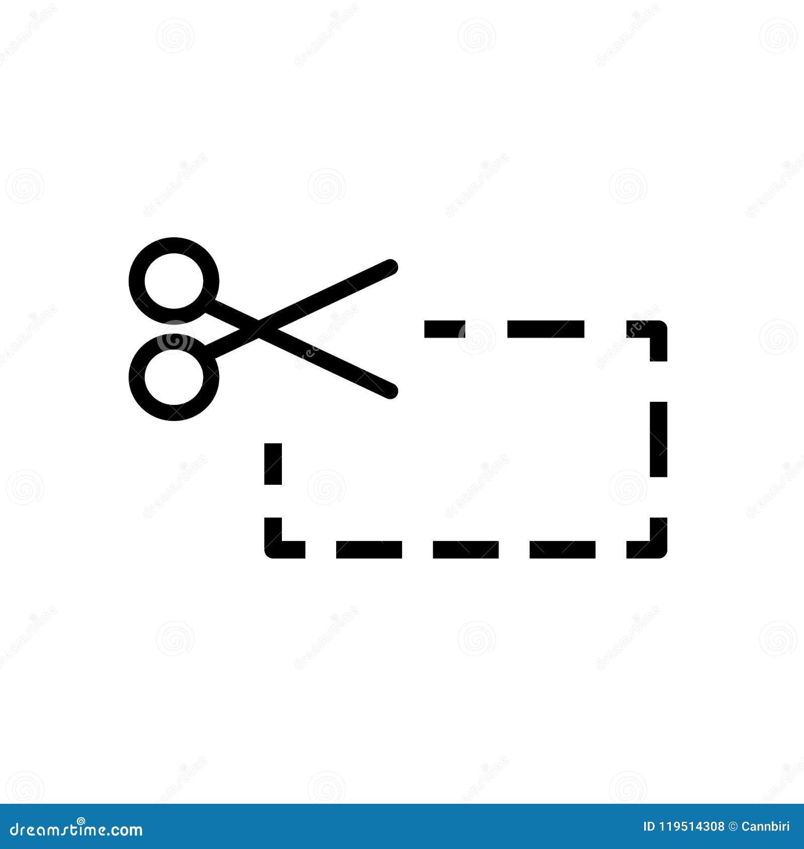 Schaarknipsel, eenvoudig pictogramontwerp