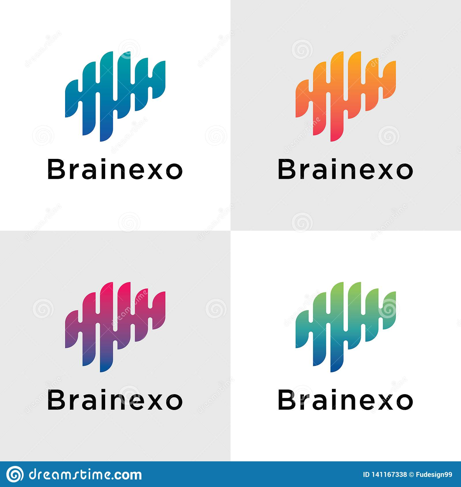 Schablone Brain Logos