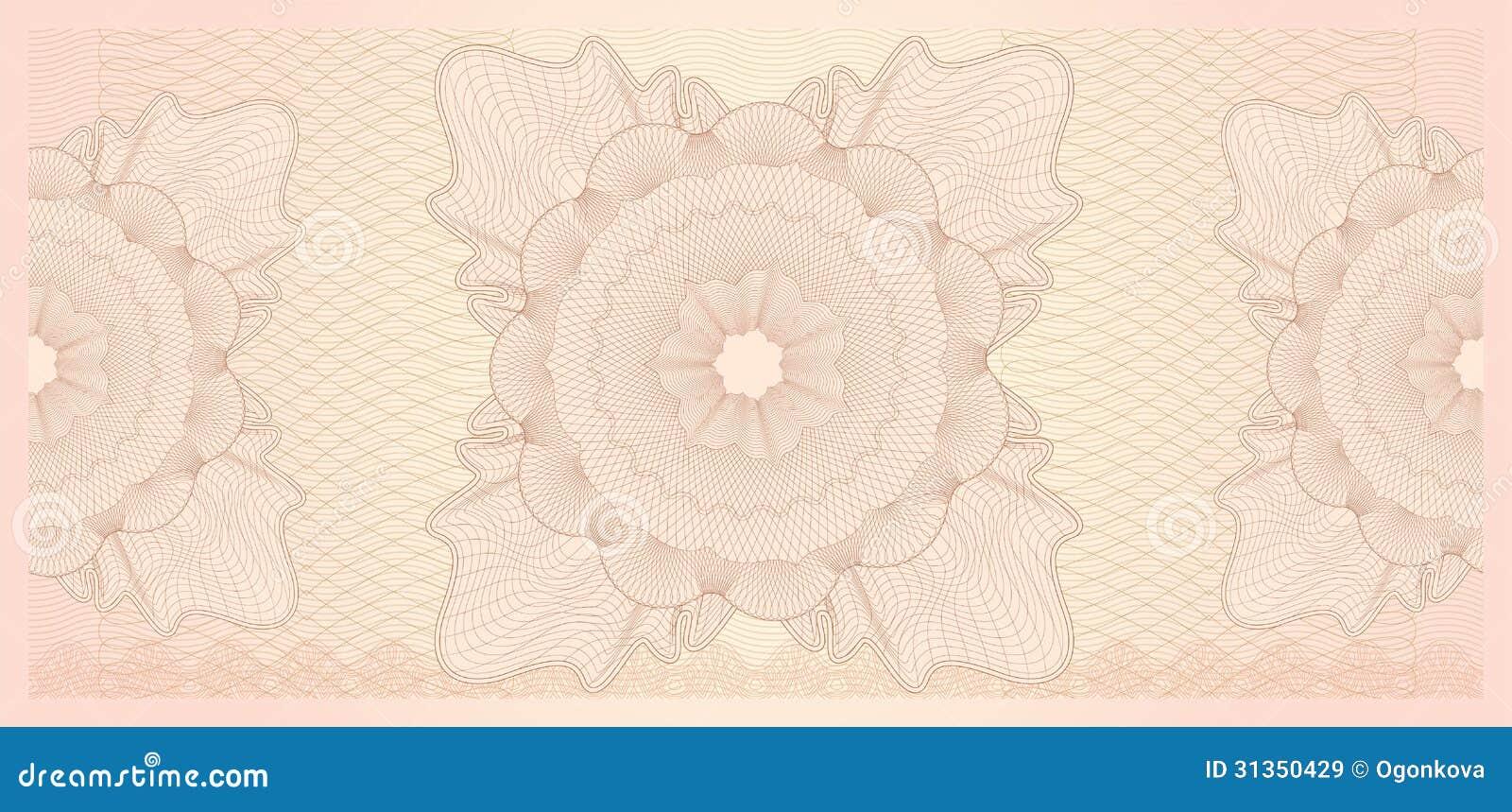 Schablone Des Geschenkgutscheins (Beleg). Muster Vektor Abbildung ...