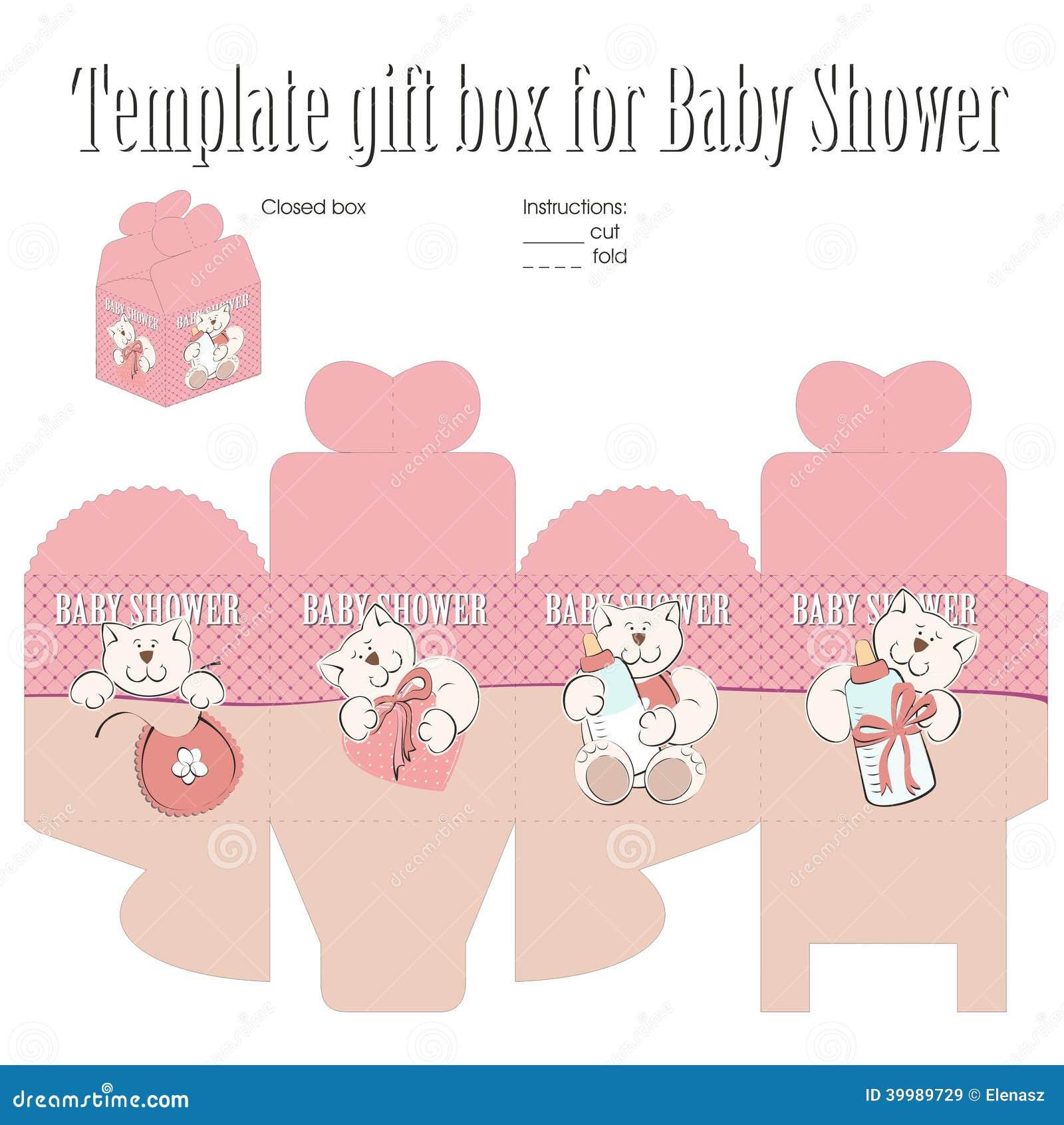 Schablone für Geschenkbox