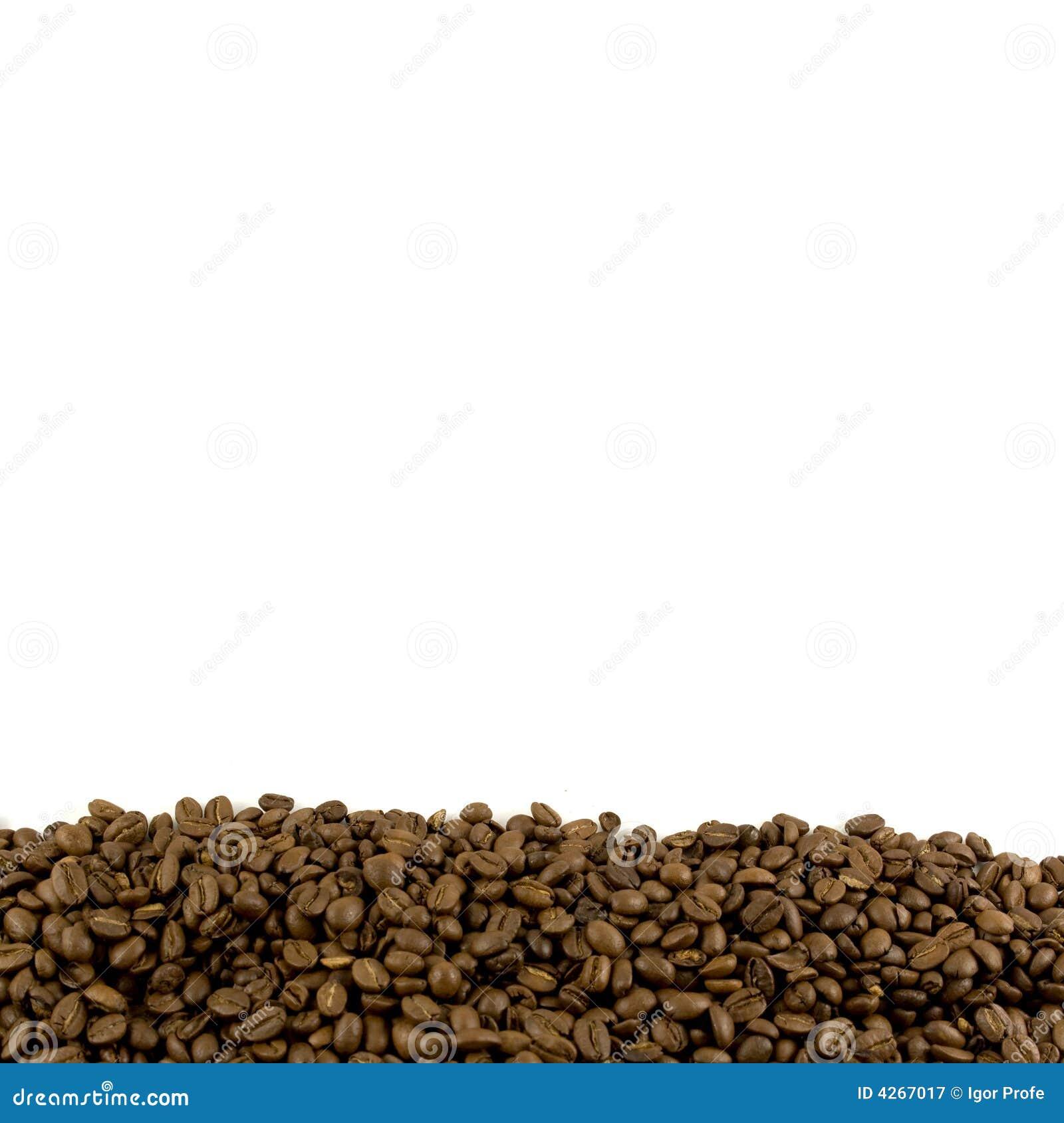 Schablone mit Kaffeebohneseitenende