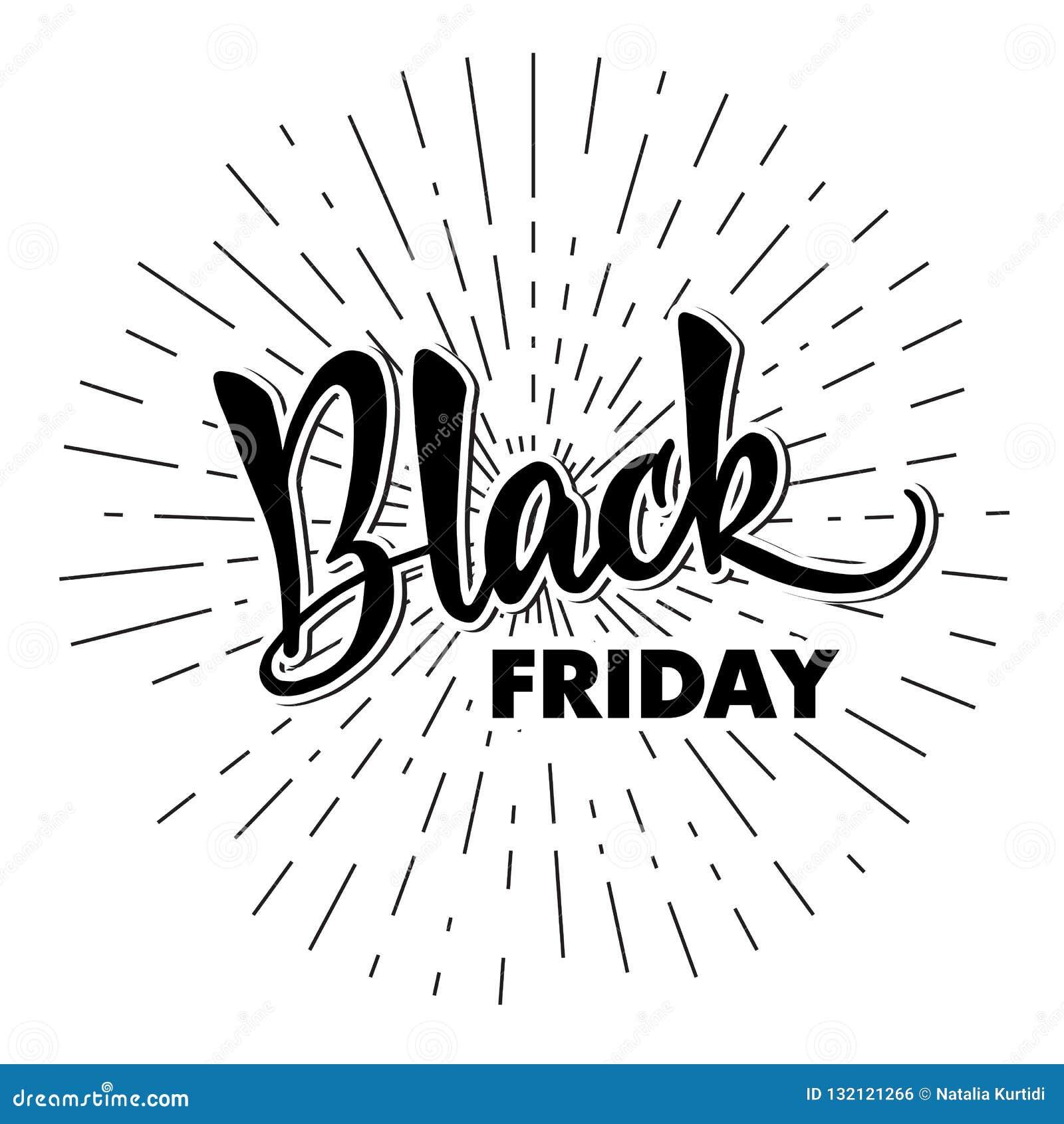 Schablone von Handlettering Black Friday Moderne Kalligraphie für
