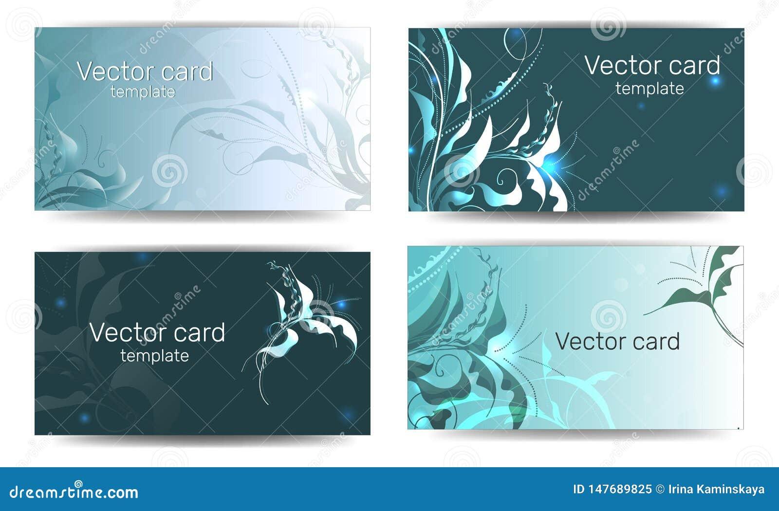 Schablone von Visitenkarten in der grünen Farbe mit einem Gestaltungselement Text-Rahmen Illustration des Vektor EPS10