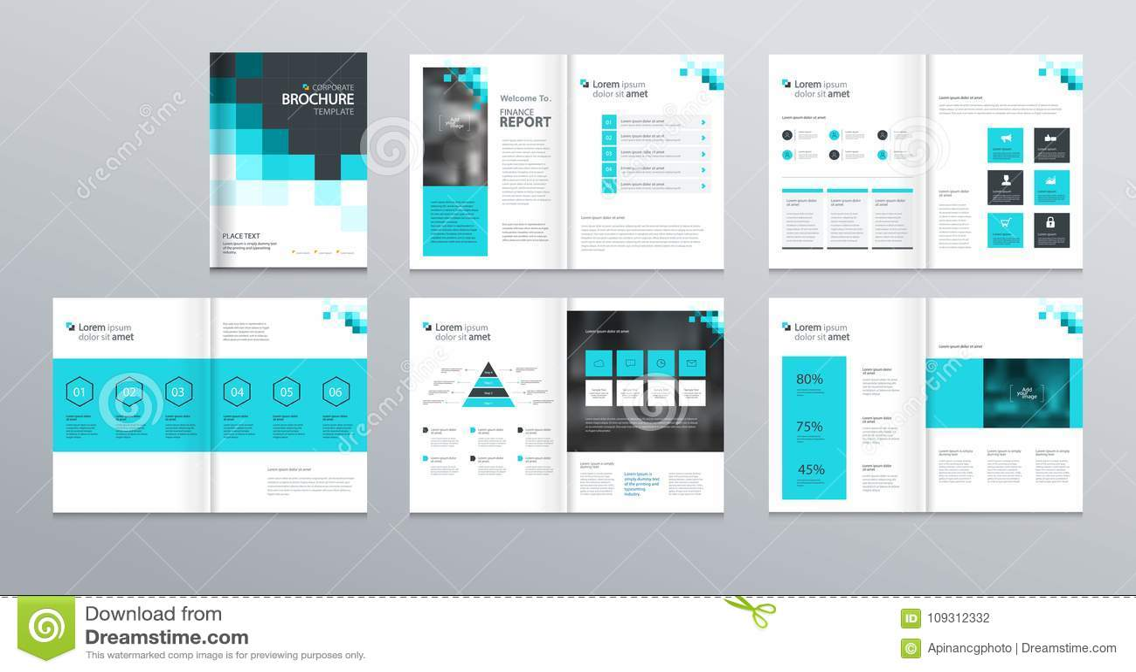 Schablonenplandesign Mit Deckblatt Für Unternehmensprofil