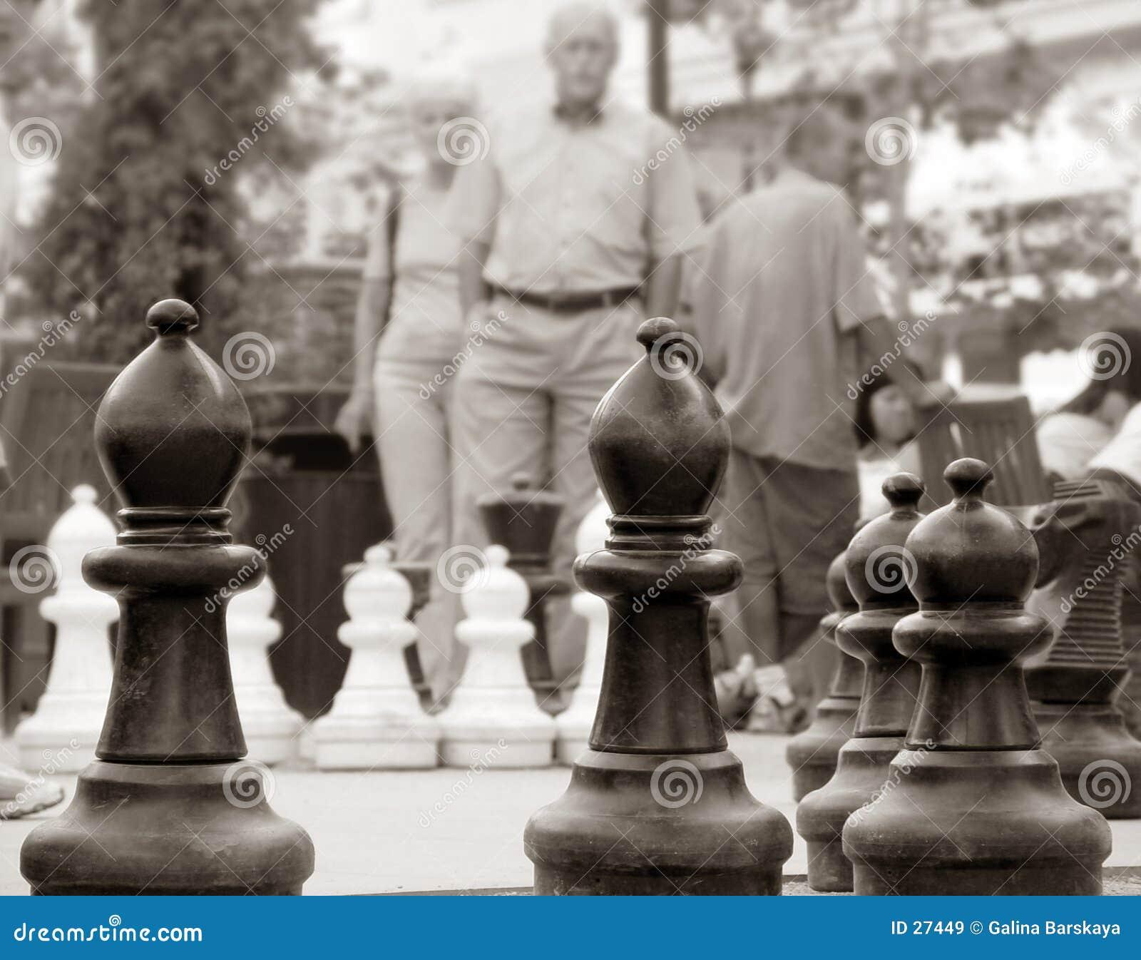 Schach im Park