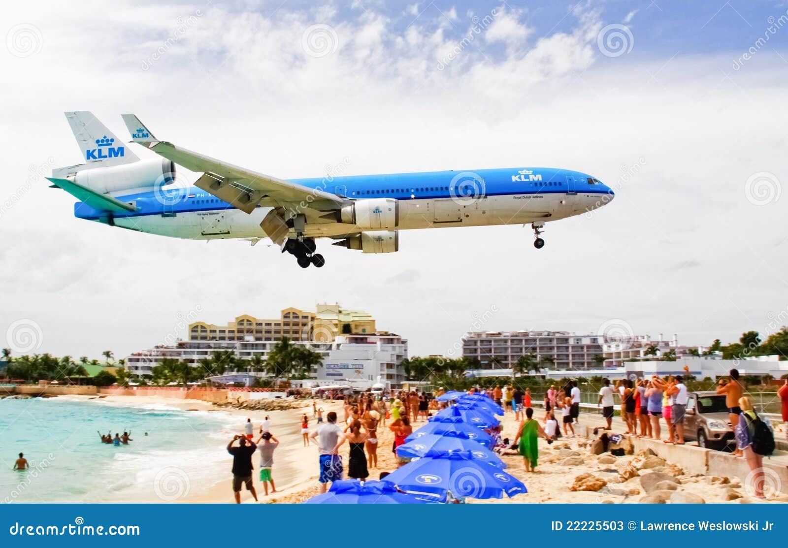 Schacht KLM-flache Landung Str.-Maarten Maho