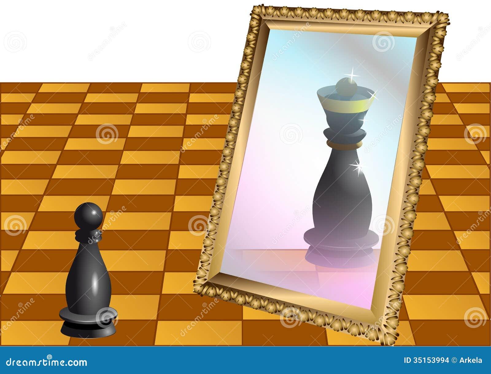 Schack pantsätter som drottningen