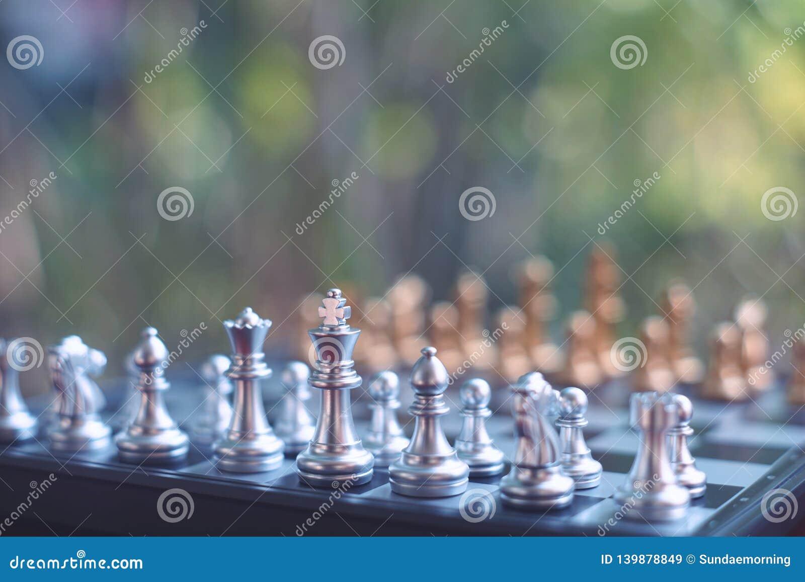 Schackbrädelek, vinnare som segrar läget, allvarlig fiende för möte, konkurrenskraftigt begrepp för affär