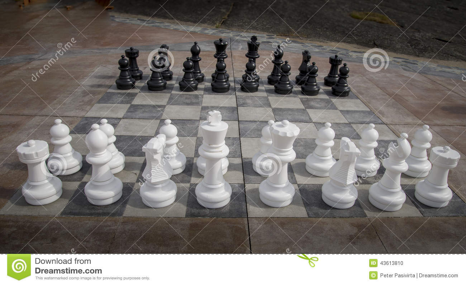 Schackmän utomhus