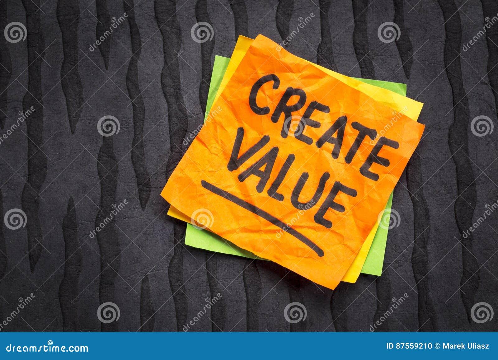 Schaffen Sie Wertanzeige auf klebriger Anmerkung