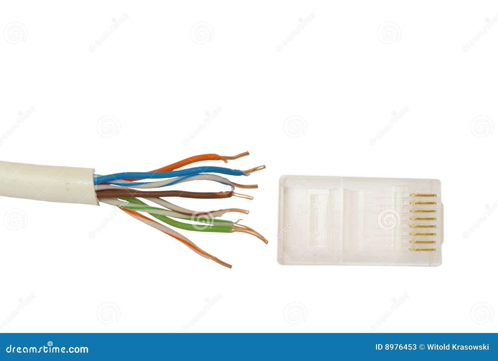 schakelaar en kabel internet stock afbeelding afbeelding 8976453. Black Bedroom Furniture Sets. Home Design Ideas
