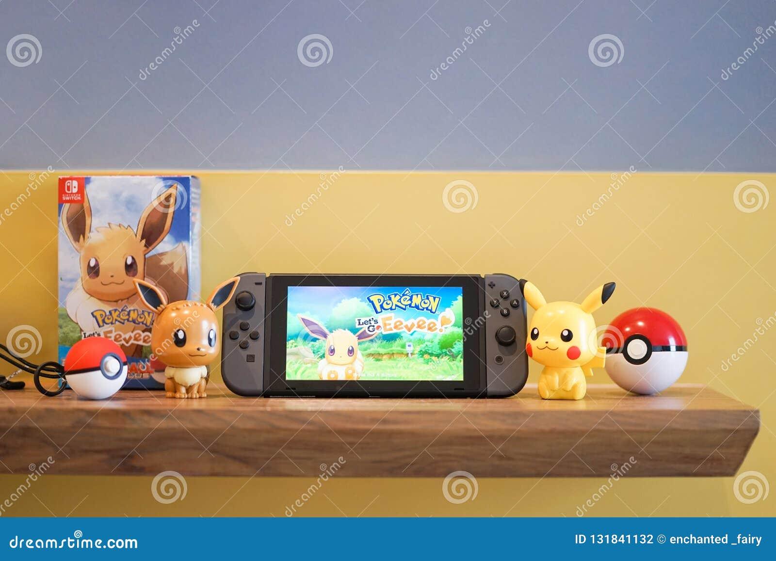 Schakelaar en Pokemon van Nintendo gaan Eevee en Pikachu