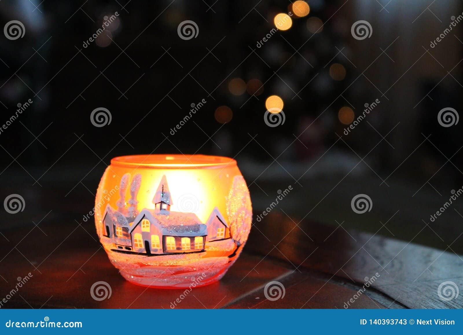 Schale candel mit Weihnachtsgefühl