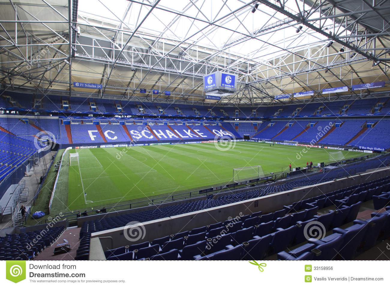 Gelsenkirchen Germany  city images : GELSENKIRCHEN, GERMANY AUG 21: Interior view of Veltins Arena on Aug ...