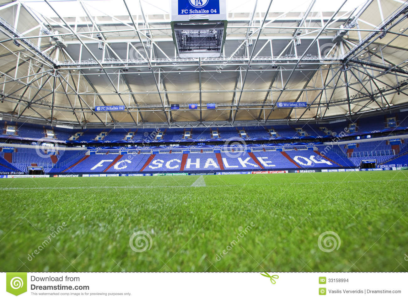Gelsenkirchen Germany  City new picture : GELSENKIRCHEN, GERMANY AUG 21: Interior view of Veltins Arena on Aug ...