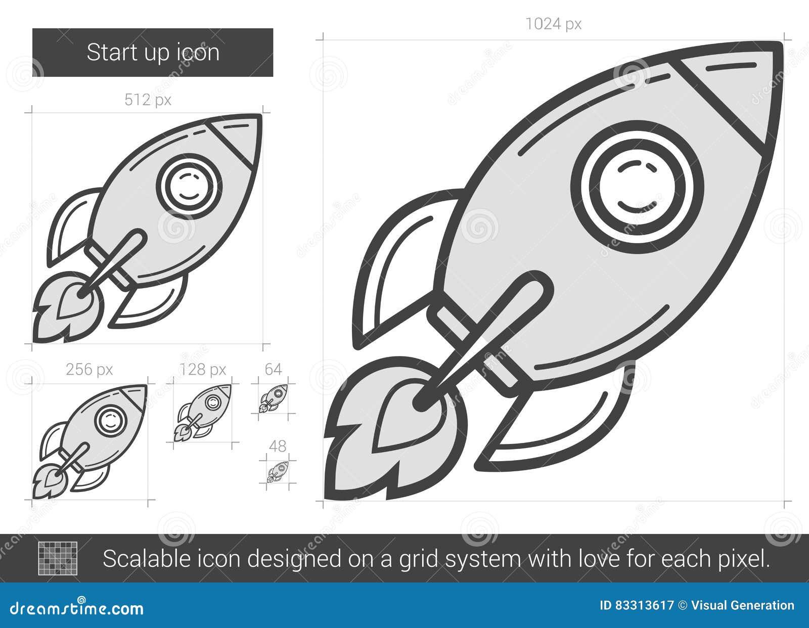 Schalten Sie Oben Leitung Ikone Zu Vektor Abbildung - Illustration ...