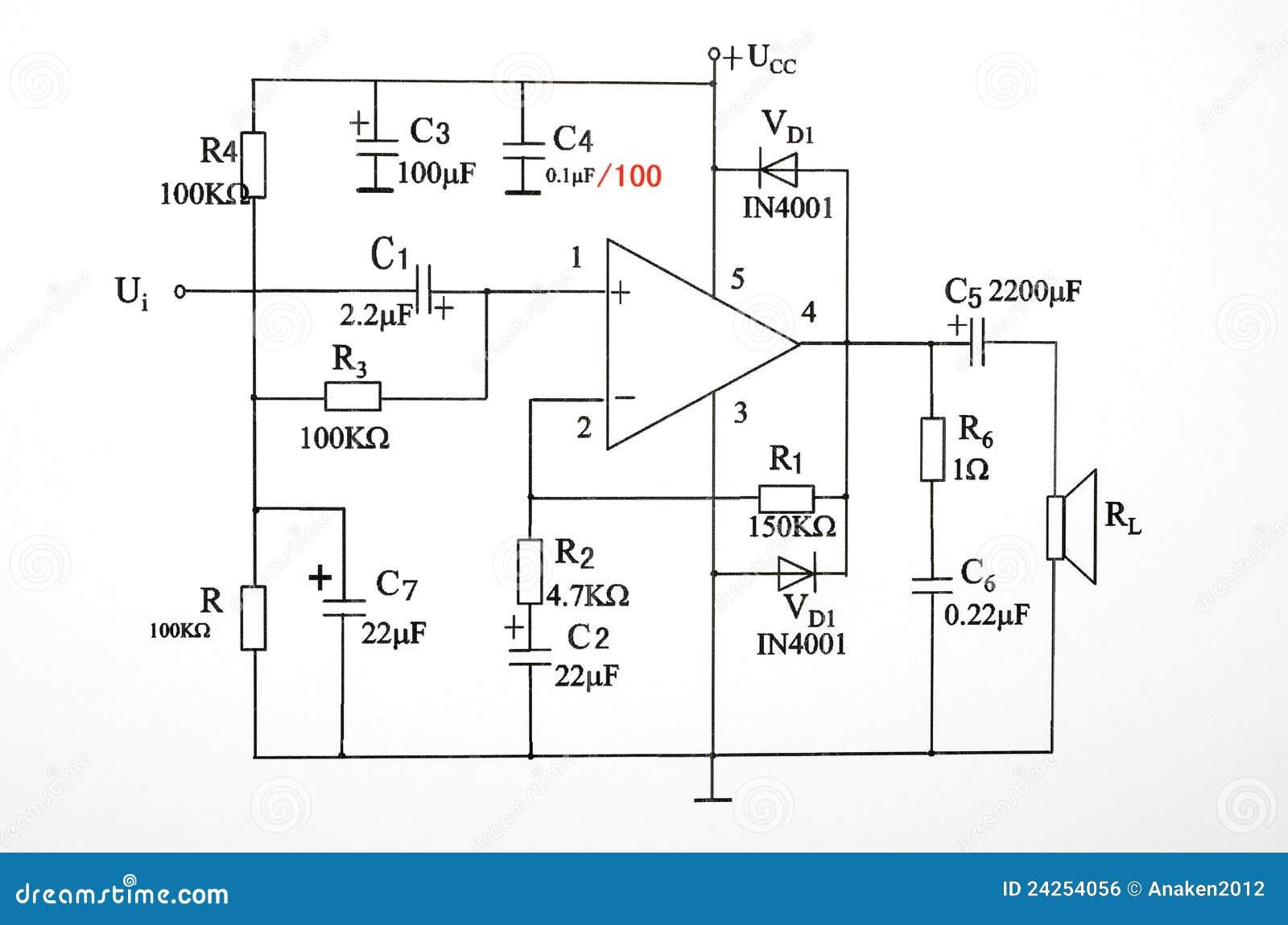 Schaltplan stockfoto. Bild von schaltung, ingenieur, energie - 24254056