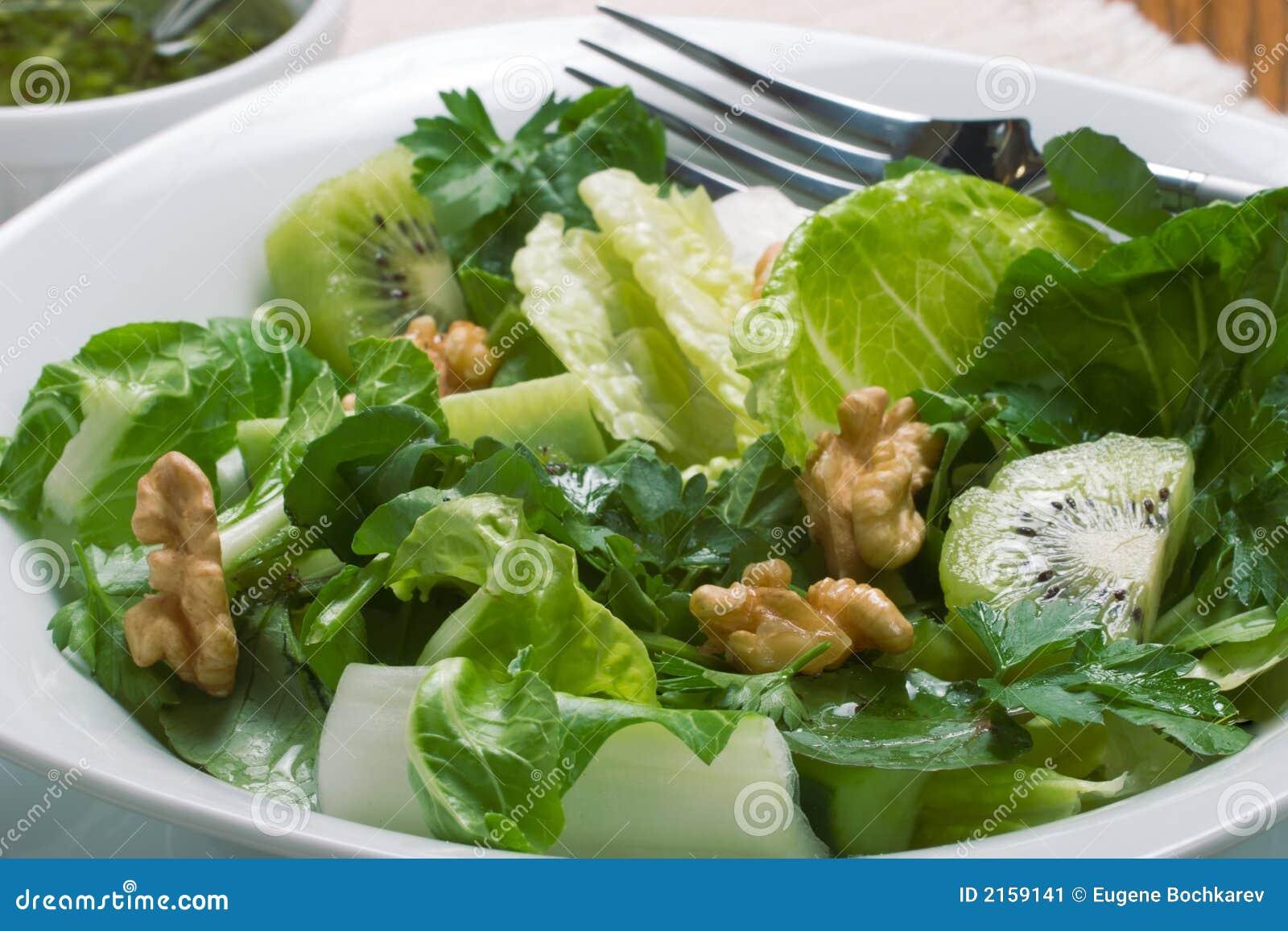 Scharfer Und Süßer Grüner Salat Stockbild - Bild von blätter ...