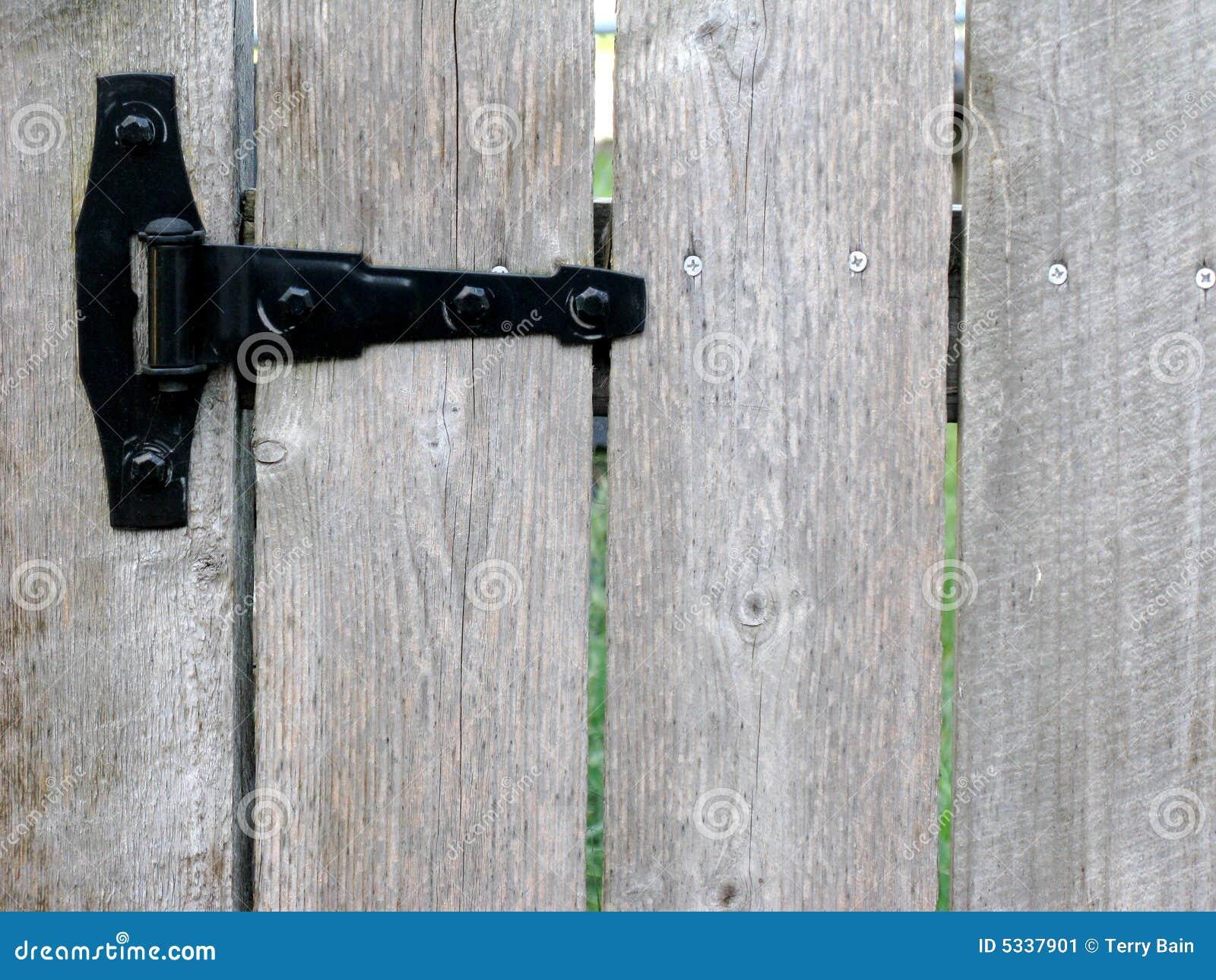 scharnier von gartentor stockbild. bild von durchführung - 5337901