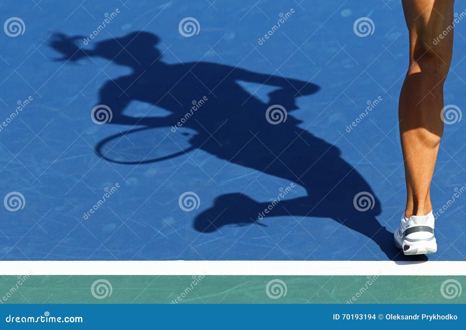 Schatten des Frauentennisspielers
