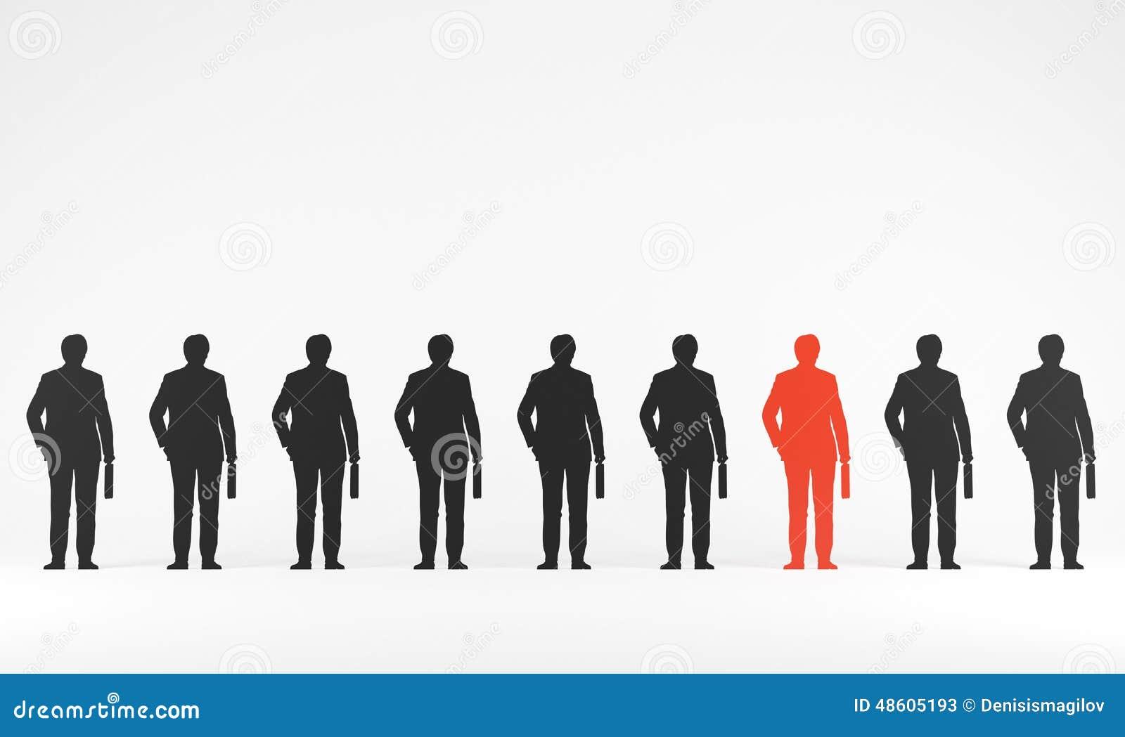 Schattenbild eines Geschäftsmannes