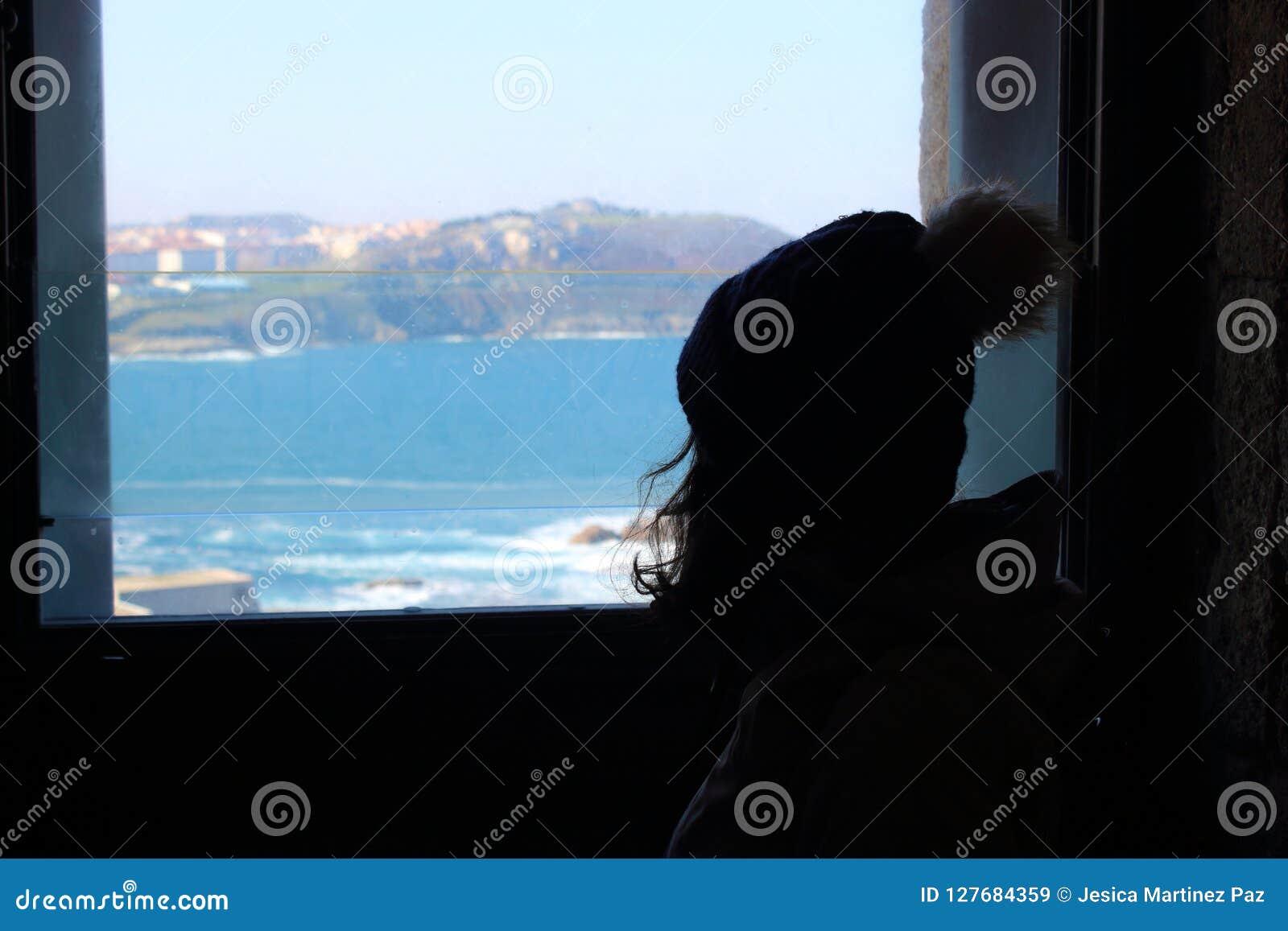 Schattenbild eines Mädchens