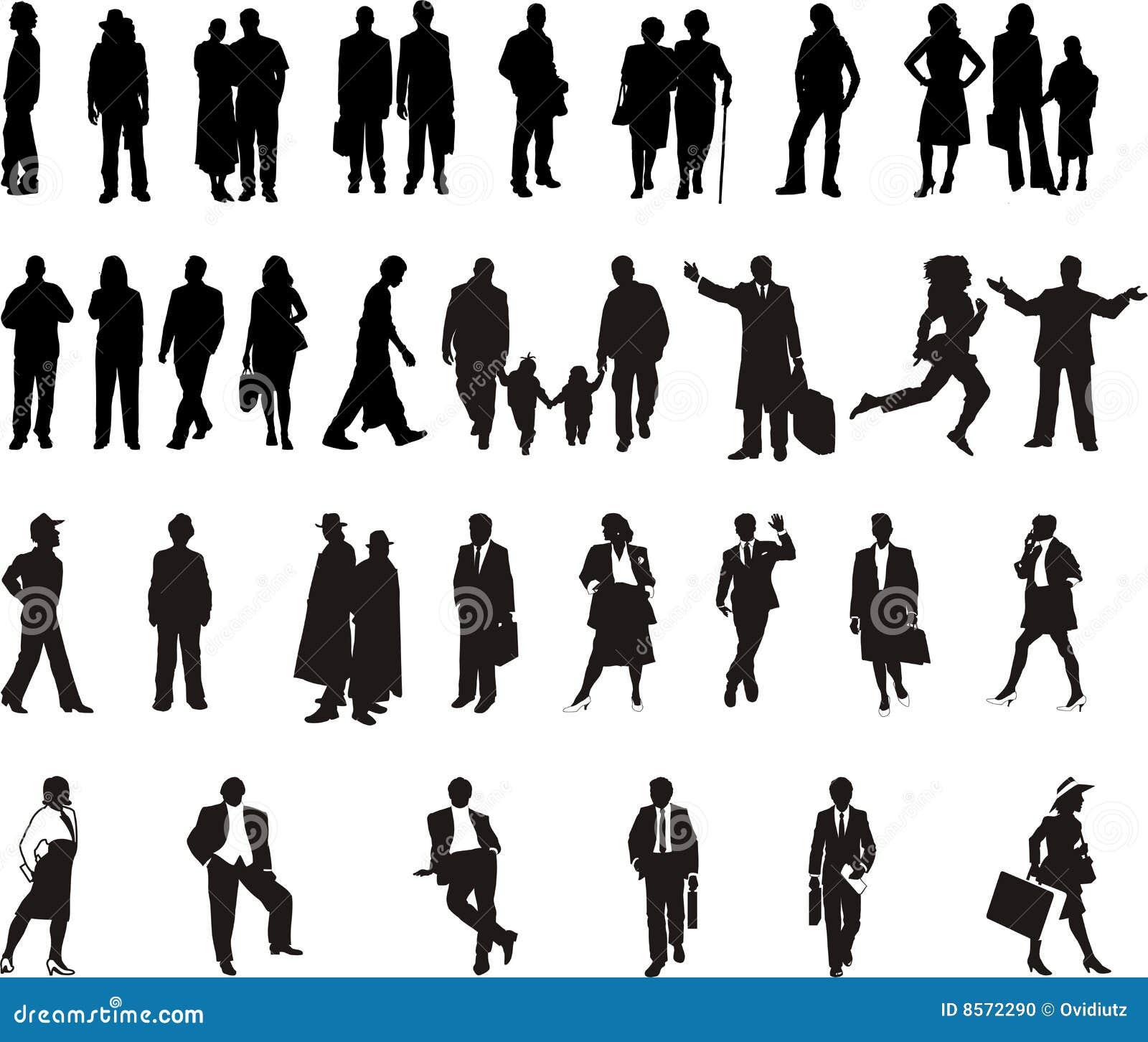 stockfoto silhouette black people bild 8572290